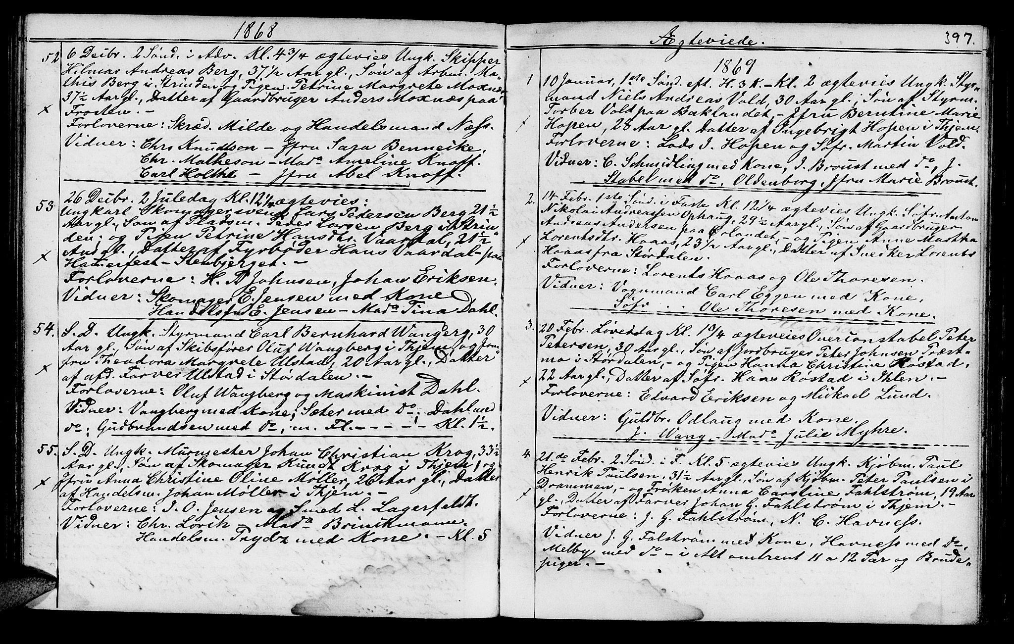 SAT, Ministerialprotokoller, klokkerbøker og fødselsregistre - Sør-Trøndelag, 602/L0140: Klokkerbok nr. 602C08, 1864-1872, s. 396-397