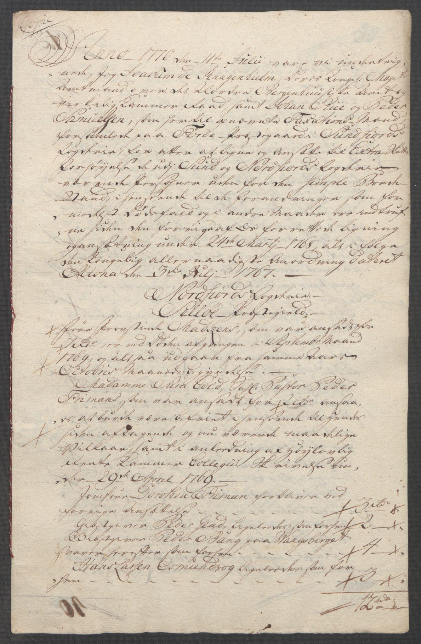 RA, Rentekammeret inntil 1814, Reviderte regnskaper, Fogderegnskap, R53/L3550: Ekstraskatten Sunn- og Nordfjord, 1762-1771, s. 349
