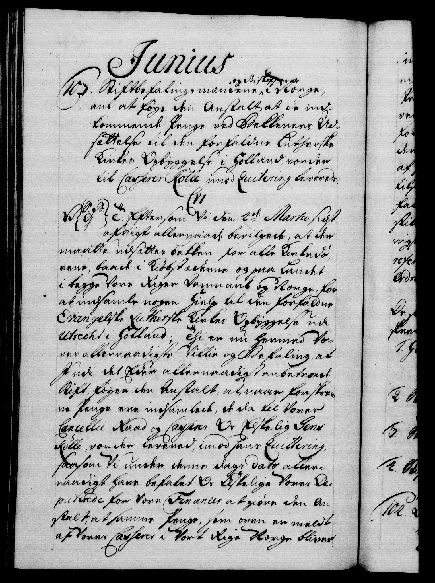 RA, Danske Kanselli 1572-1799, F/Fc/Fca/Fcab/L0028: Norske tegnelser, 1738-1740, s. 571b