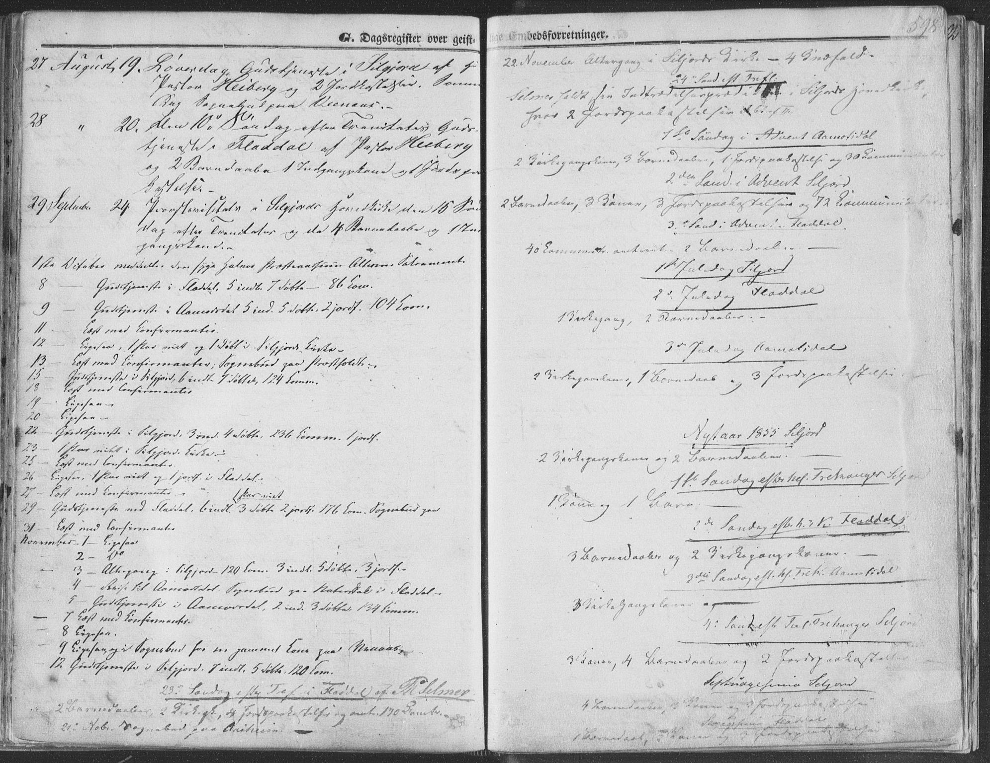 SAKO, Seljord kirkebøker, F/Fa/L012b: Ministerialbok nr. I 12B, 1850-1865, s. 598