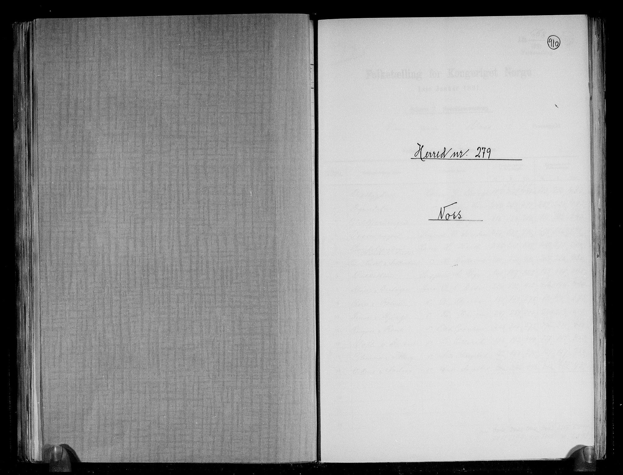 RA, Folketelling 1891 for 1235 Voss herred, 1891, s. 1