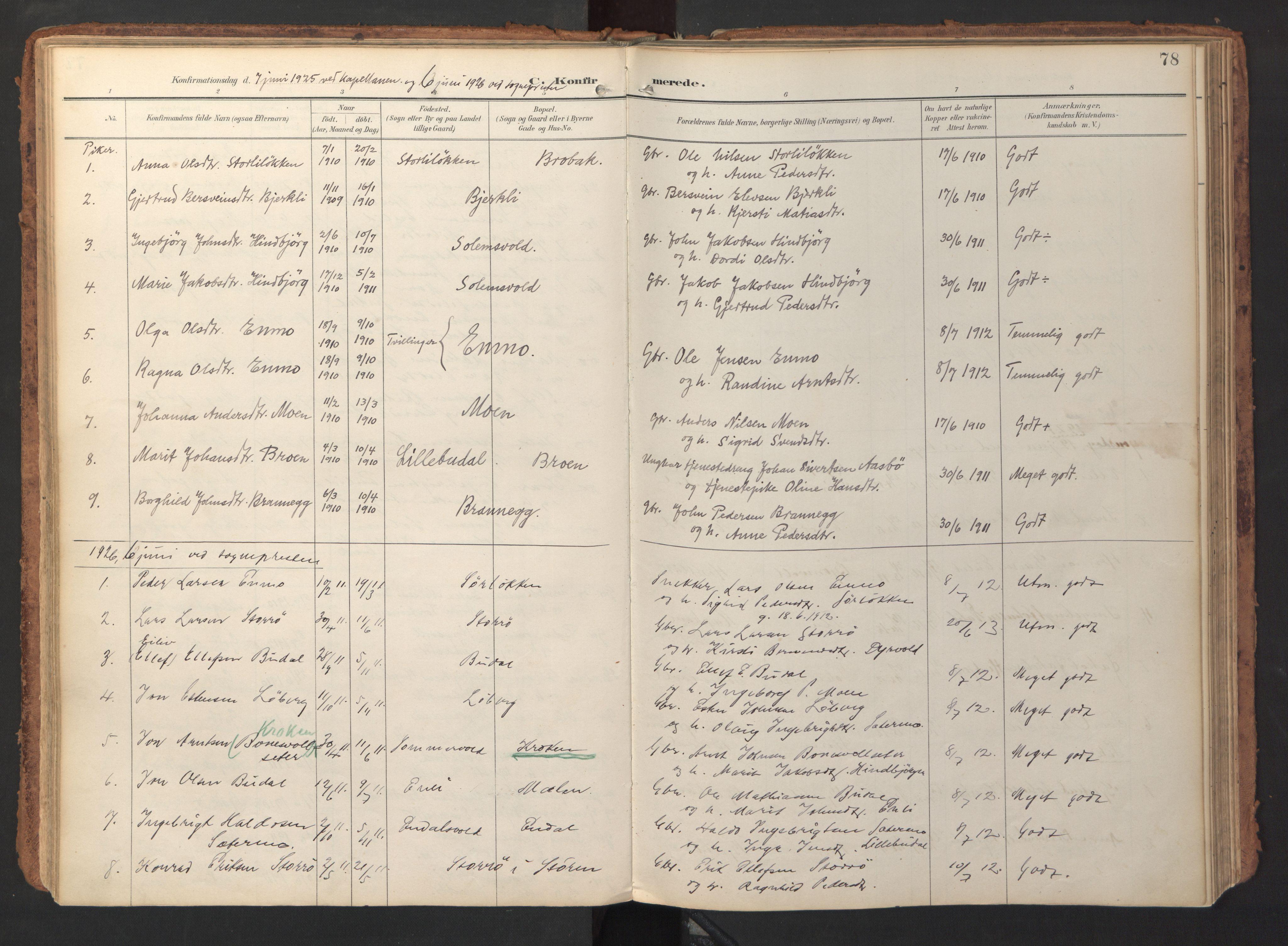SAT, Ministerialprotokoller, klokkerbøker og fødselsregistre - Sør-Trøndelag, 690/L1050: Ministerialbok nr. 690A01, 1889-1929, s. 78