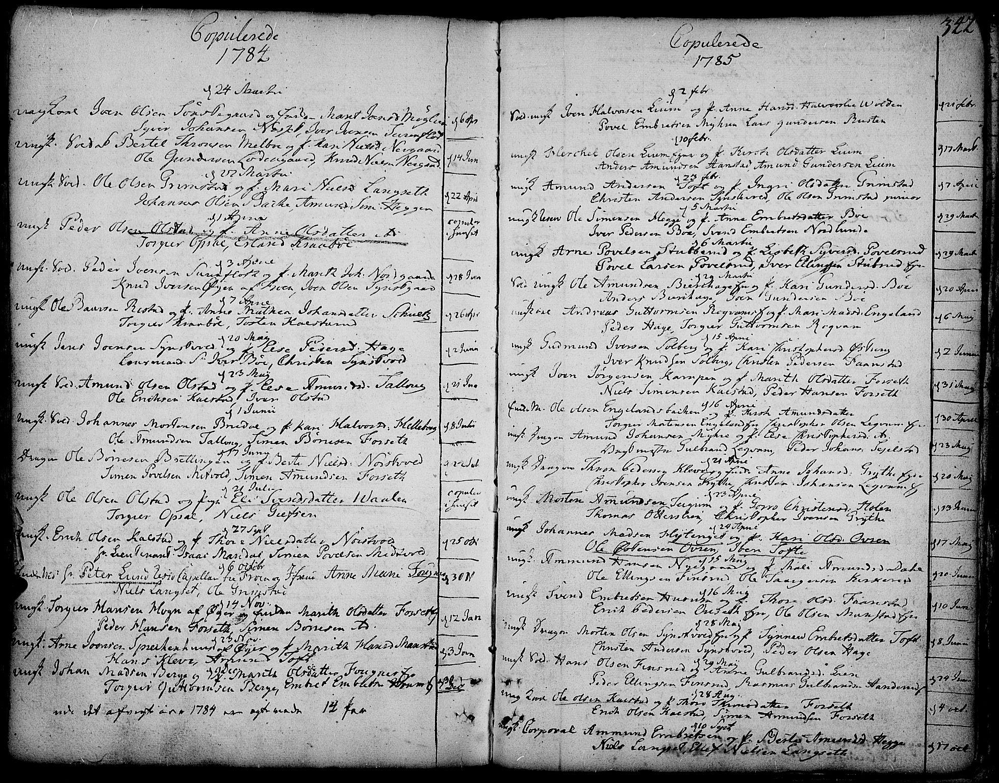 SAH, Gausdal prestekontor, Ministerialbok nr. 3, 1758-1809, s. 342