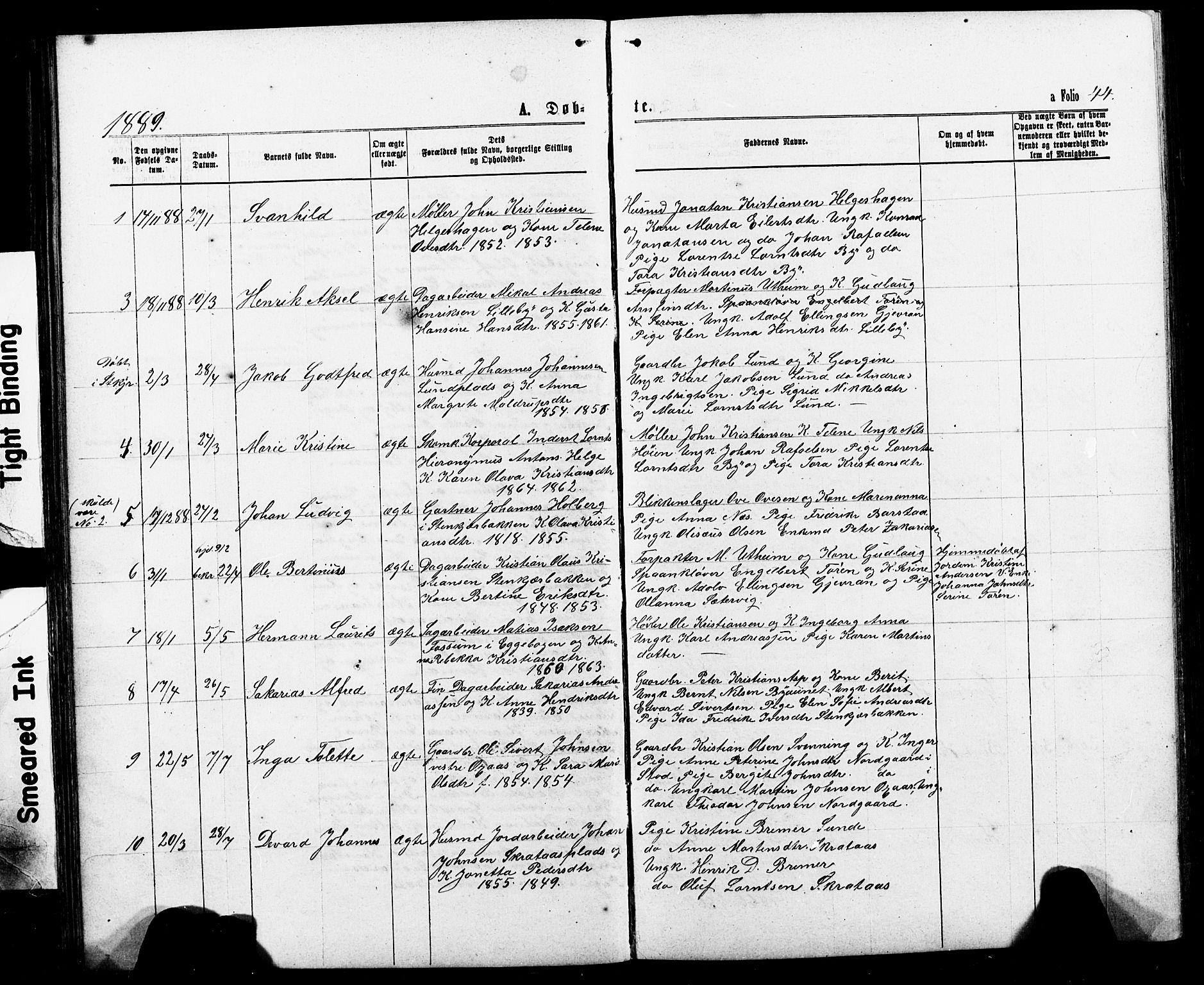 SAT, Ministerialprotokoller, klokkerbøker og fødselsregistre - Nord-Trøndelag, 740/L0380: Klokkerbok nr. 740C01, 1868-1902, s. 44