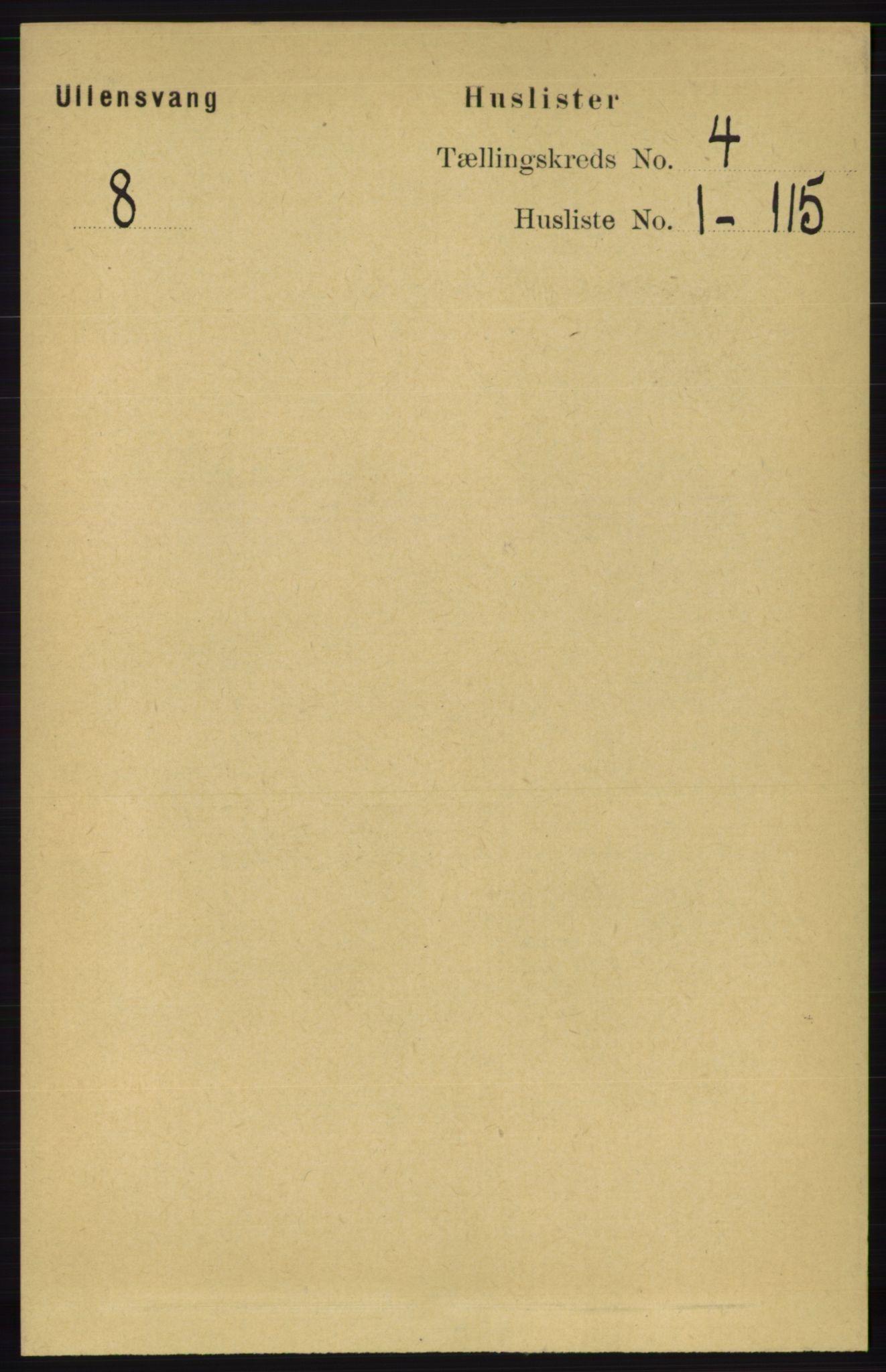 RA, Folketelling 1891 for 1230 Ullensvang herred, 1891, s. 857