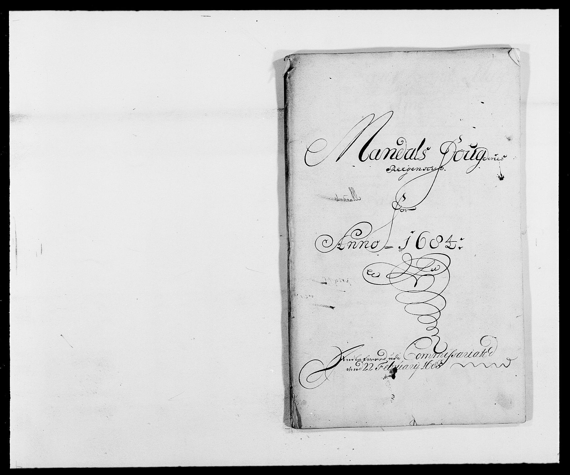 RA, Rentekammeret inntil 1814, Reviderte regnskaper, Fogderegnskap, R42/L2541: Mandal fogderi, 1681-1684, s. 237