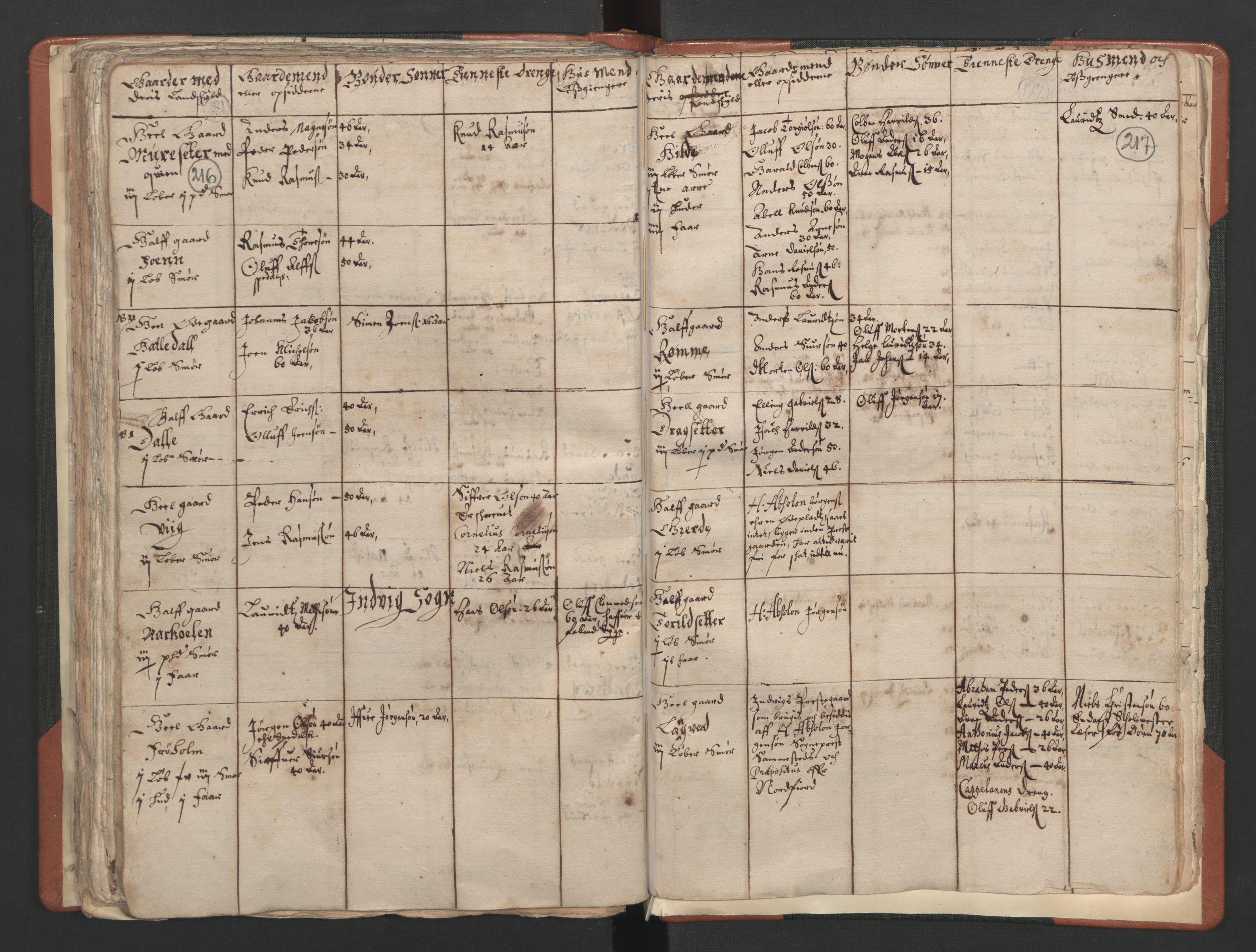 RA, Sogneprestenes manntall 1664-1666, nr. 25: Nordfjord prosti, 1664-1666, s. 216-217