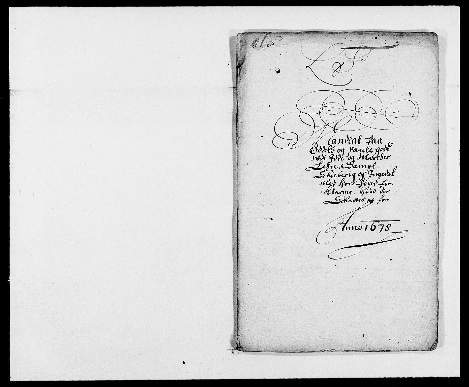 RA, Rentekammeret inntil 1814, Reviderte regnskaper, Fogderegnskap, R01/L0001: Fogderegnskap Idd og Marker, 1678-1679, s. 160
