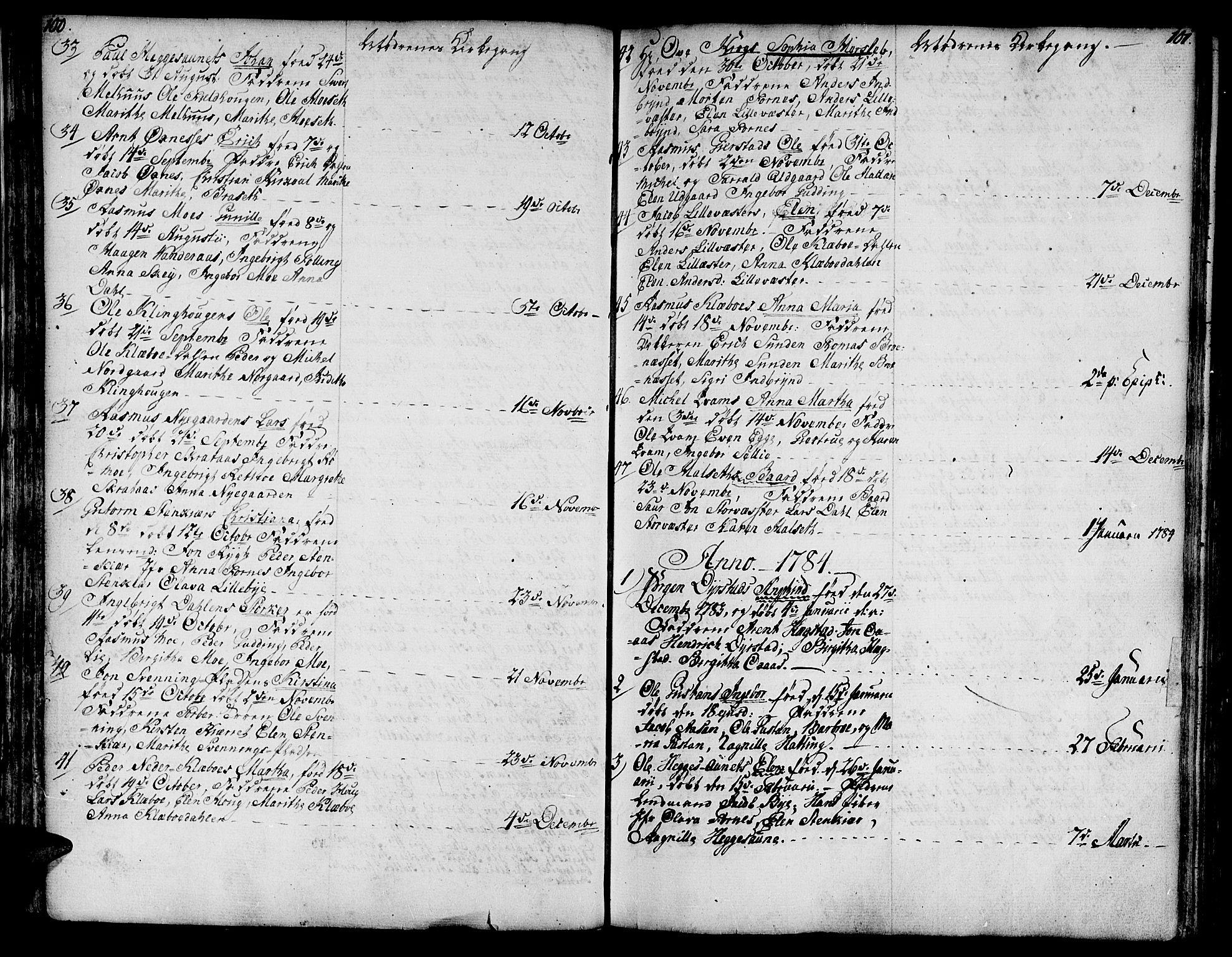 SAT, Ministerialprotokoller, klokkerbøker og fødselsregistre - Nord-Trøndelag, 746/L0440: Ministerialbok nr. 746A02, 1760-1815, s. 100-101