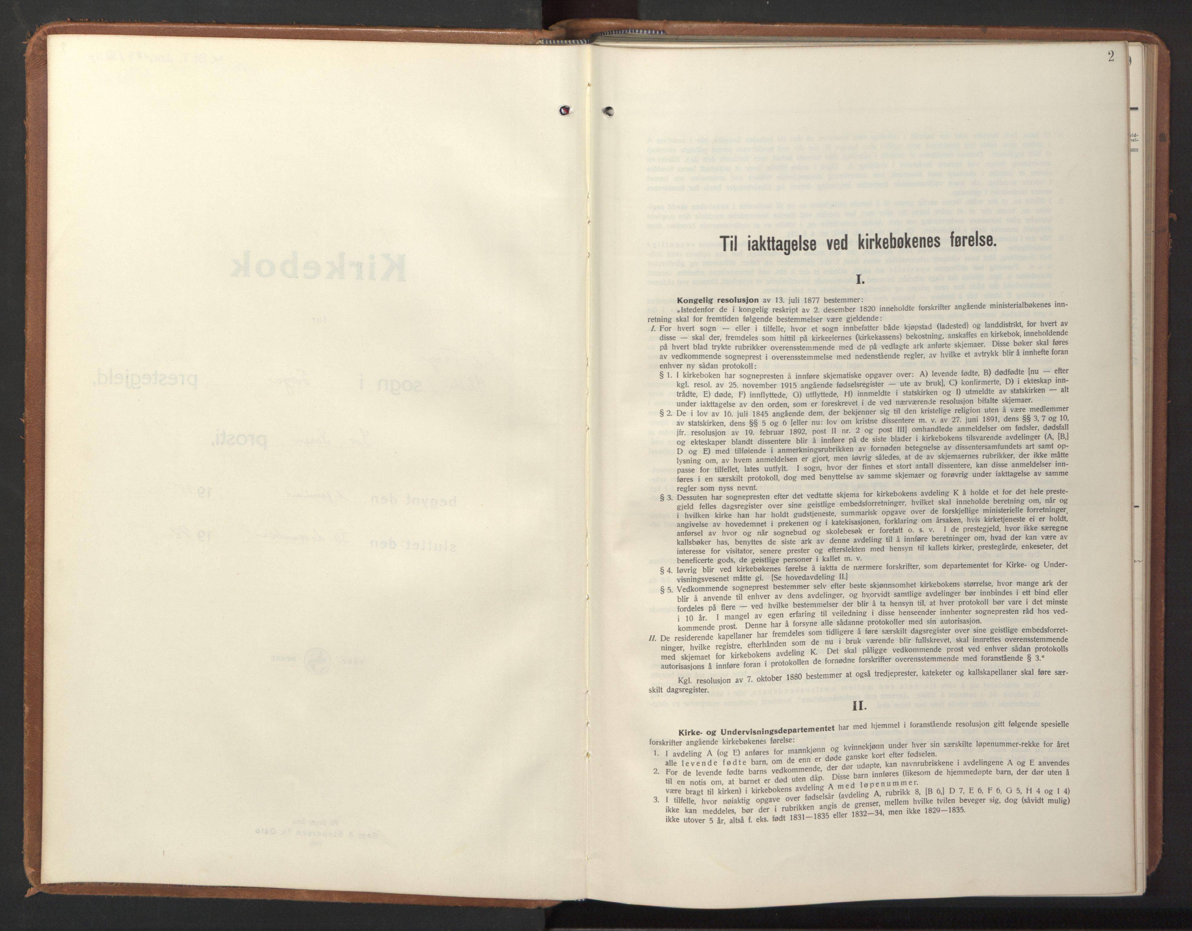 SAT, Ministerialprotokoller, klokkerbøker og fødselsregistre - Sør-Trøndelag, 640/L0590: Klokkerbok nr. 640C07, 1935-1948, s. 2