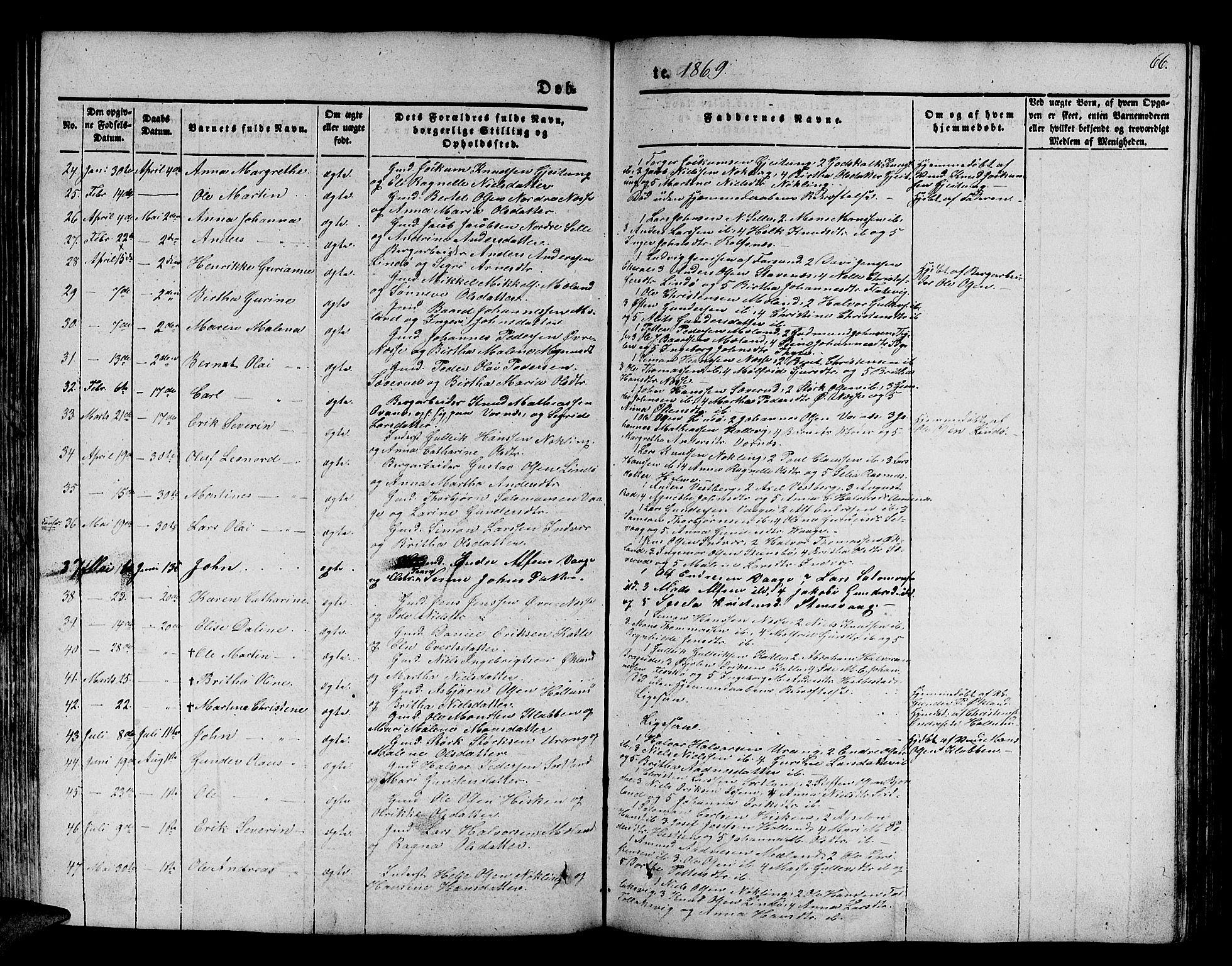 SAB, Finnås sokneprestembete, H/Ha/Hab/Habb/L0001: Klokkerbok nr. B 1, 1851-1870, s. 66