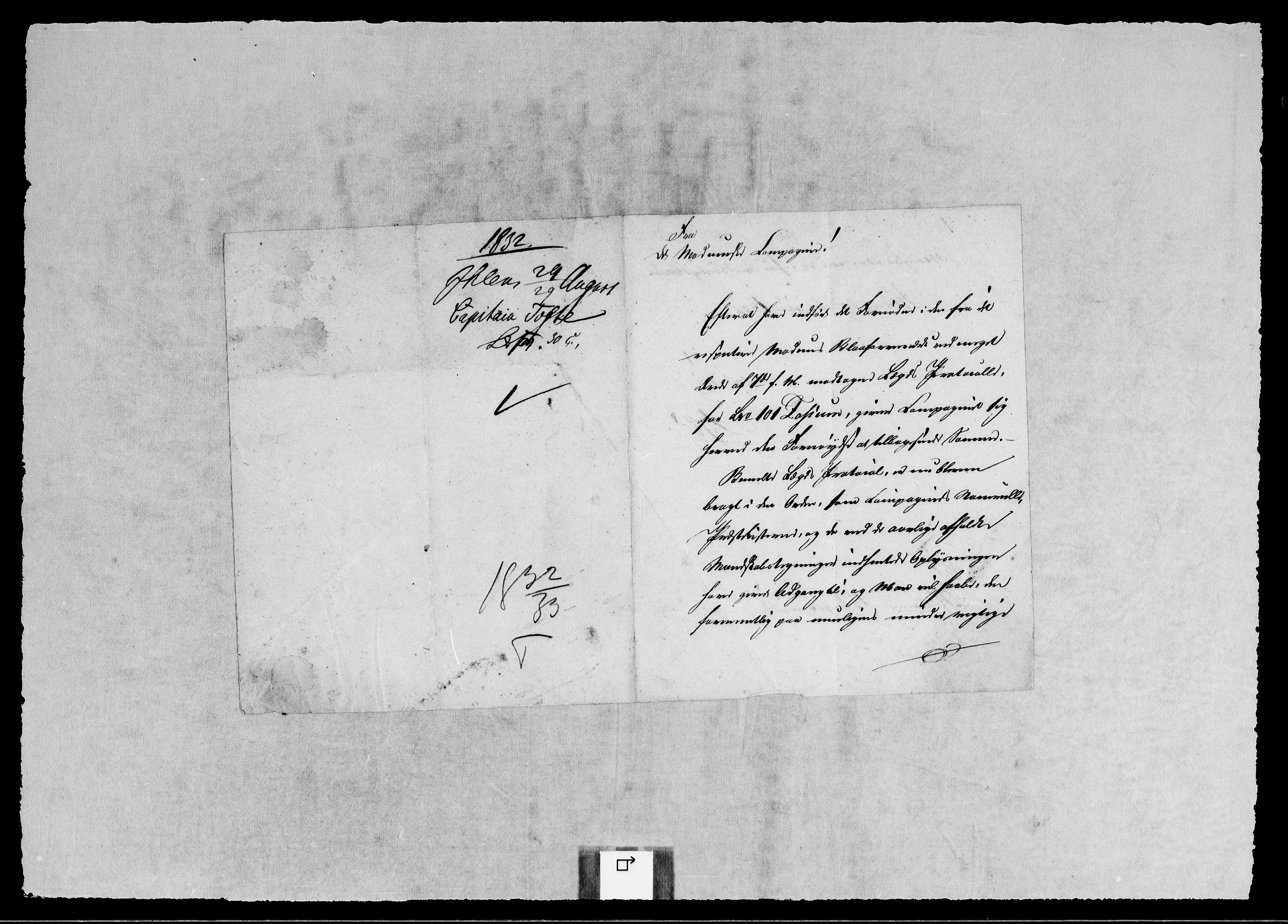 RA, Modums Blaafarveværk, G/Gb/L0110, 1832-1833, s. 2