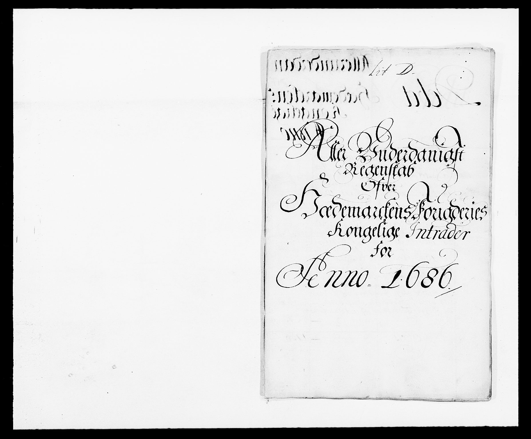 RA, Rentekammeret inntil 1814, Reviderte regnskaper, Fogderegnskap, R16/L1027: Fogderegnskap Hedmark, 1686, s. 1