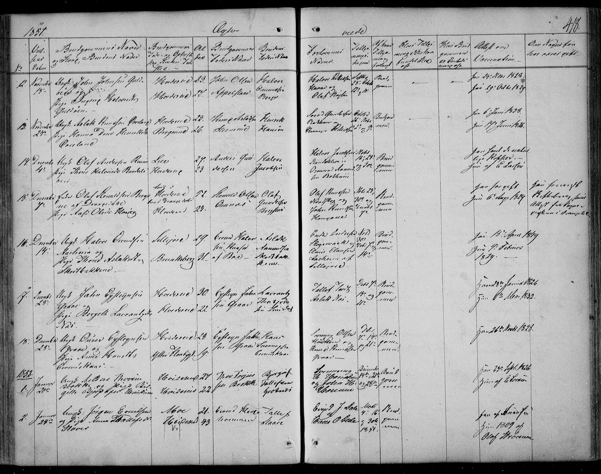 SAKO, Kviteseid kirkebøker, F/Fa/L0006: Ministerialbok nr. I 6, 1836-1858, s. 418