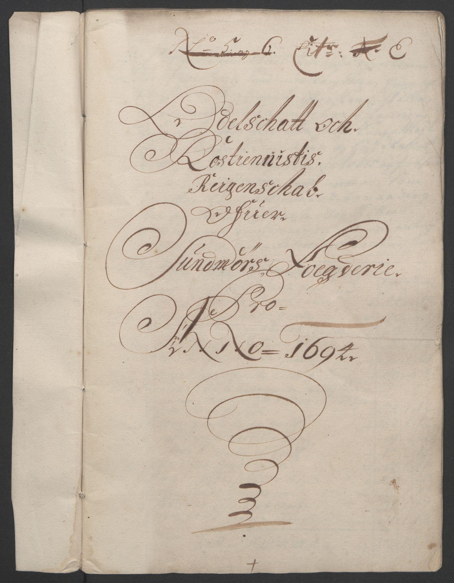 RA, Rentekammeret inntil 1814, Reviderte regnskaper, Fogderegnskap, R54/L3555: Fogderegnskap Sunnmøre, 1694-1695, s. 123