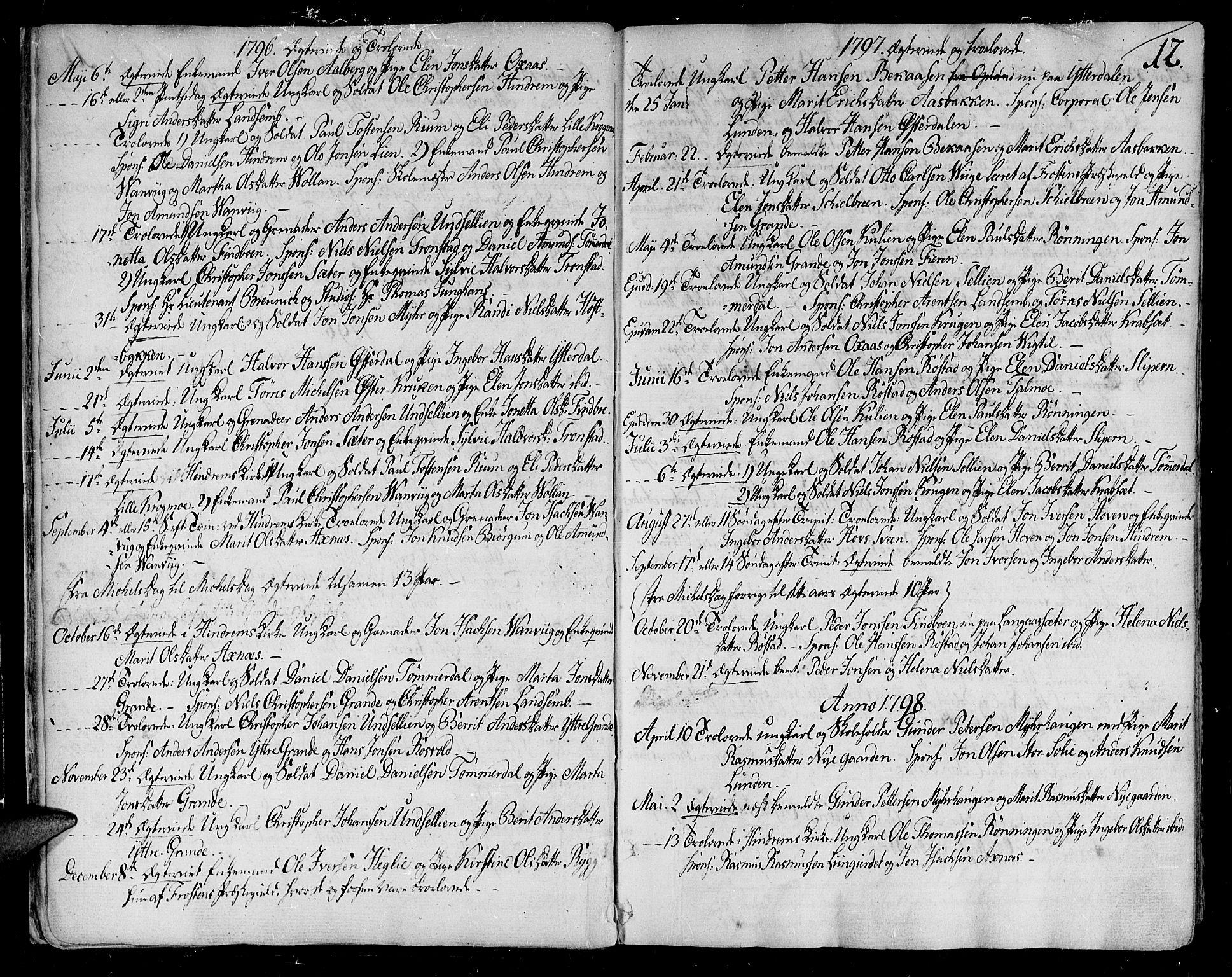 SAT, Ministerialprotokoller, klokkerbøker og fødselsregistre - Nord-Trøndelag, 701/L0004: Ministerialbok nr. 701A04, 1783-1816, s. 12