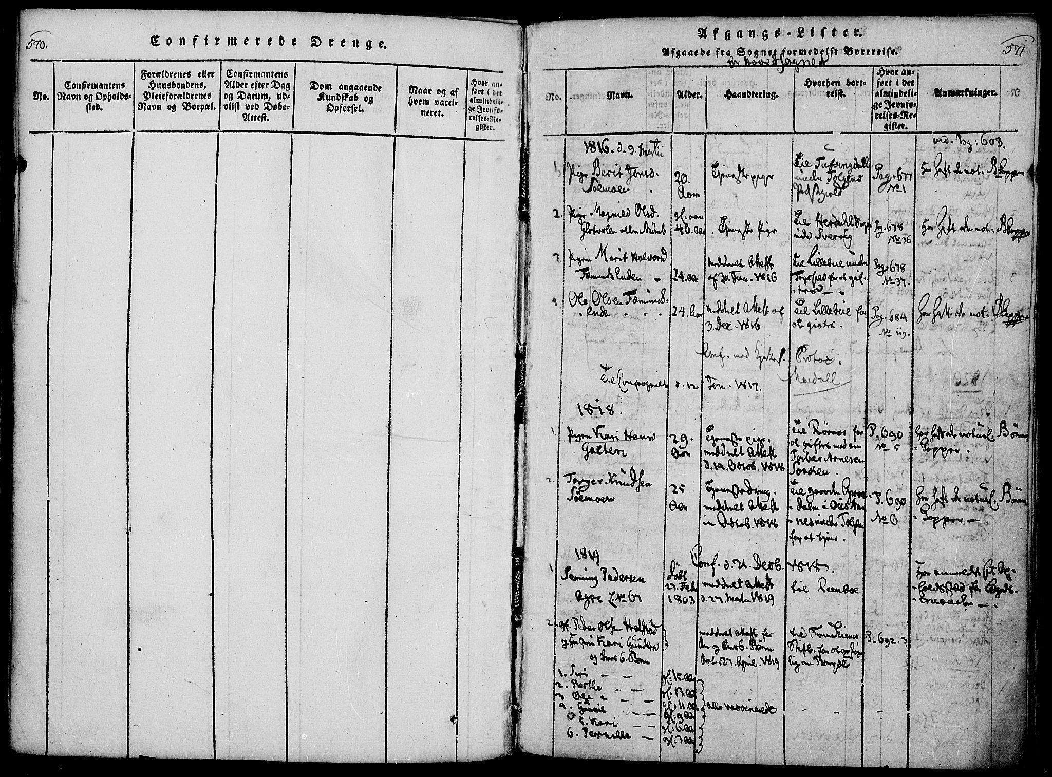 SAH, Rendalen prestekontor, H/Ha/Haa/L0003: Ministerialbok nr. 3, 1815-1829, s. 570-571