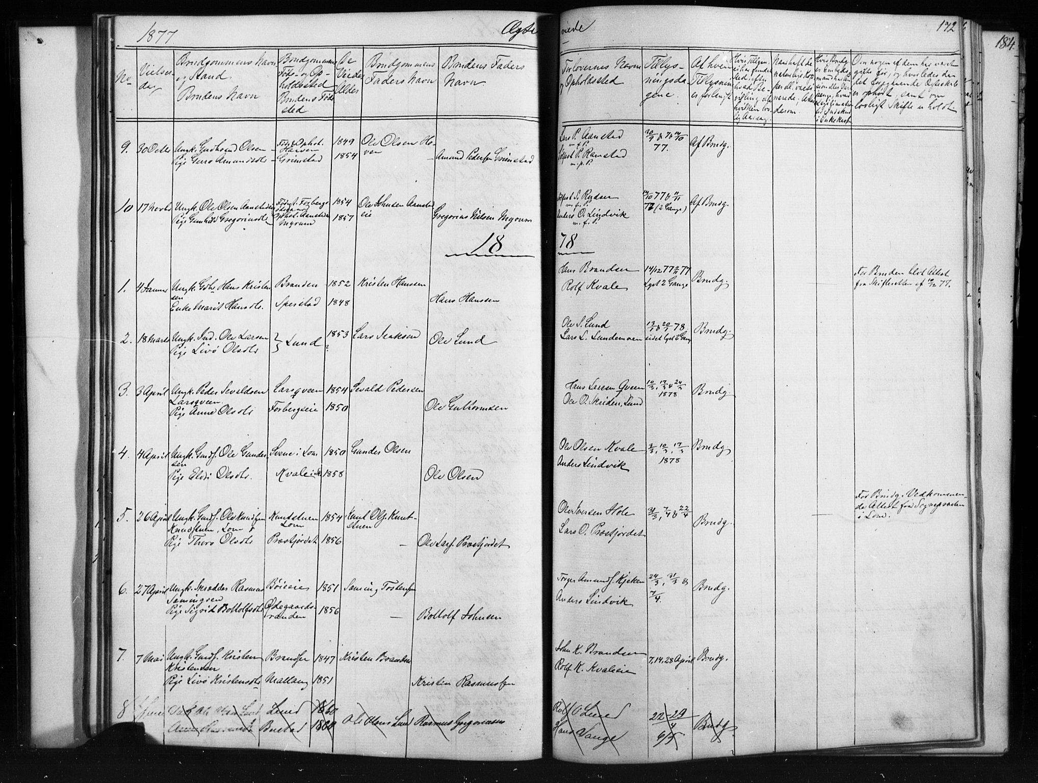 SAH, Skjåk prestekontor, Klokkerbok nr. 1, 1865-1893, s. 172