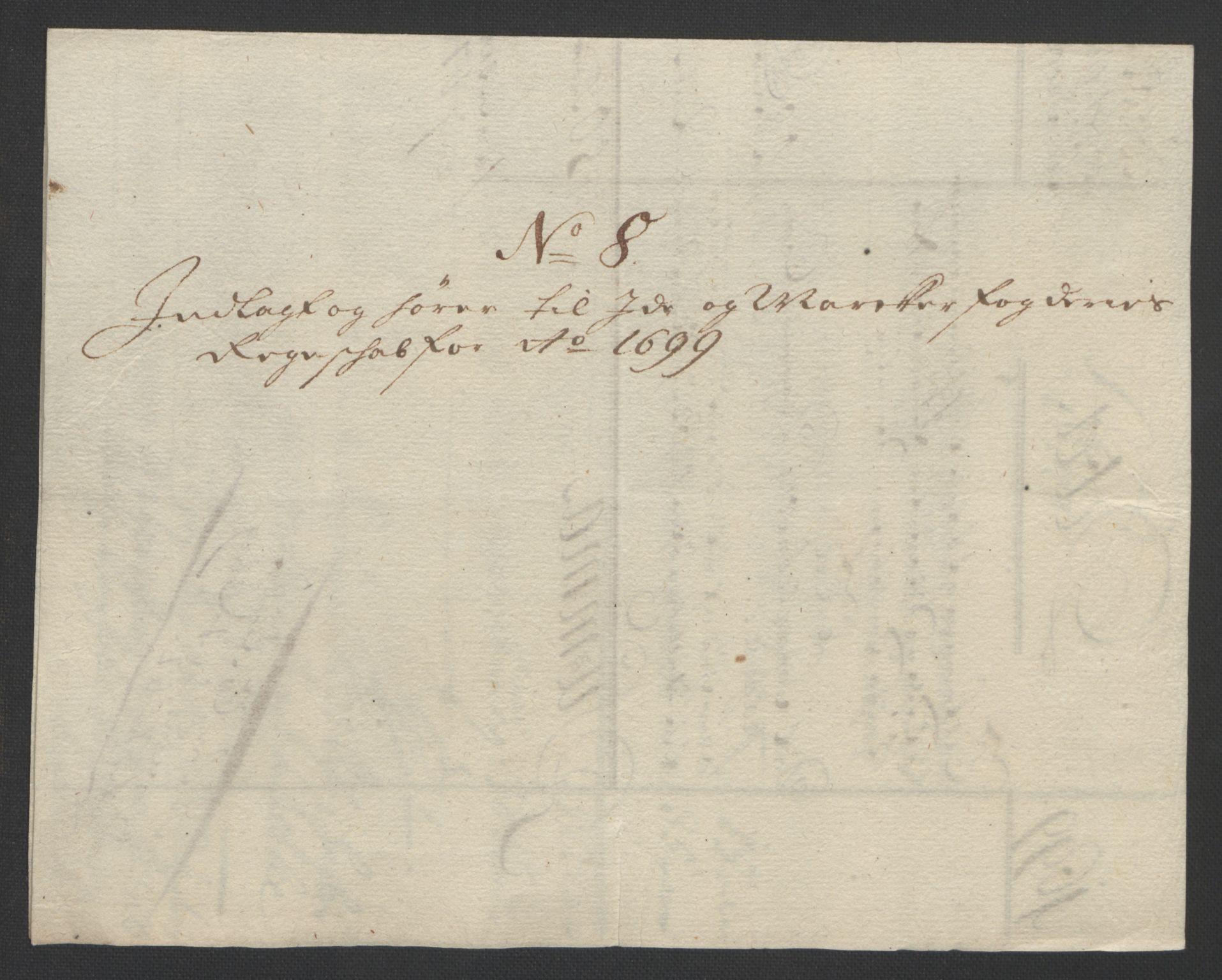 RA, Rentekammeret inntil 1814, Reviderte regnskaper, Fogderegnskap, R01/L0014: Fogderegnskap Idd og Marker, 1699, s. 129