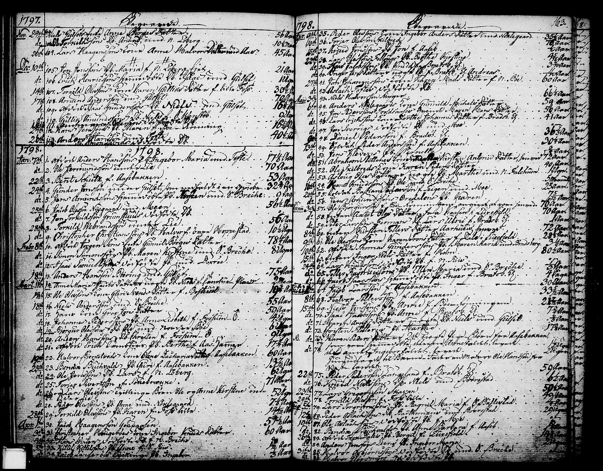 SAKO, Gjerpen kirkebøker, F/Fa/L0003: Ministerialbok nr. 3, 1796-1814, s. 163