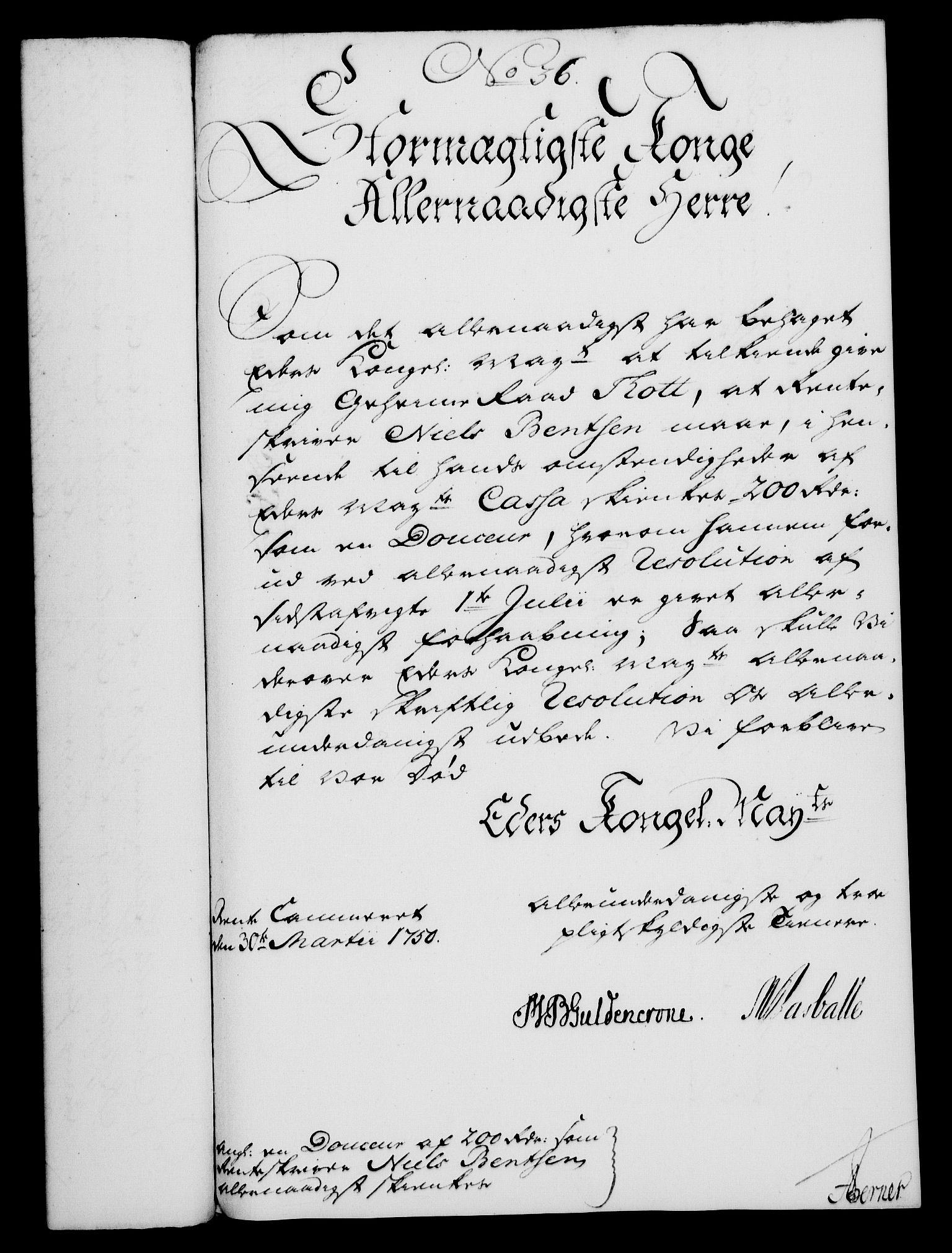 RA, Rentekammeret, Kammerkanselliet, G/Gf/Gfa/L0032: Norsk relasjons- og resolusjonsprotokoll (merket RK 52.32), 1750, s. 156