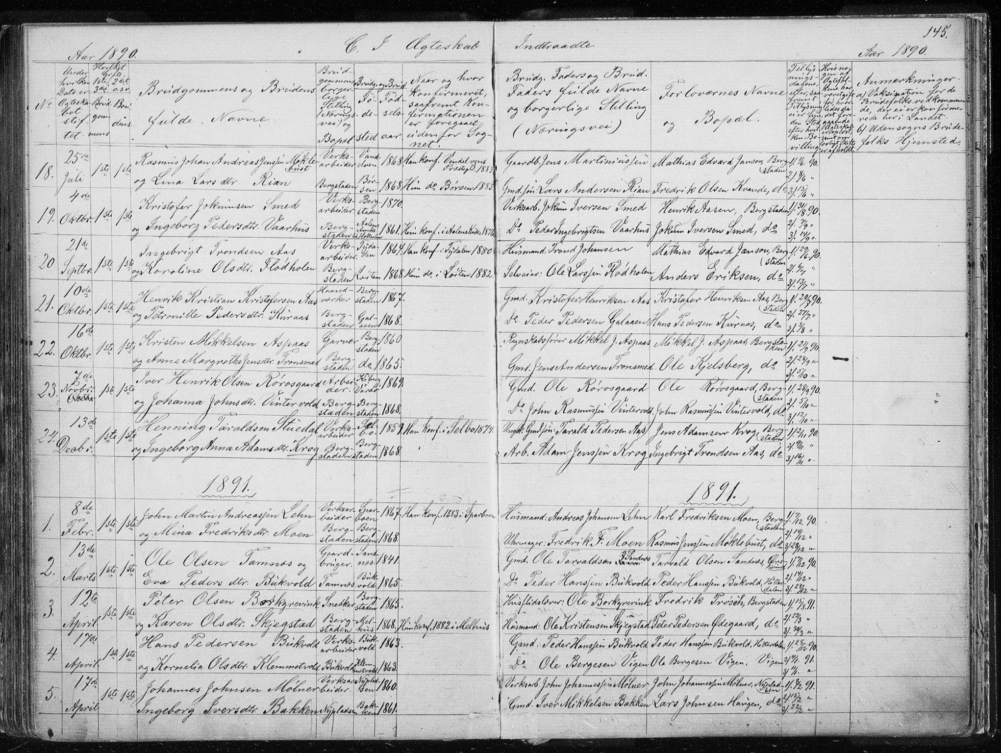 SAT, Ministerialprotokoller, klokkerbøker og fødselsregistre - Sør-Trøndelag, 681/L0940: Klokkerbok nr. 681C04, 1880-1895, s. 145