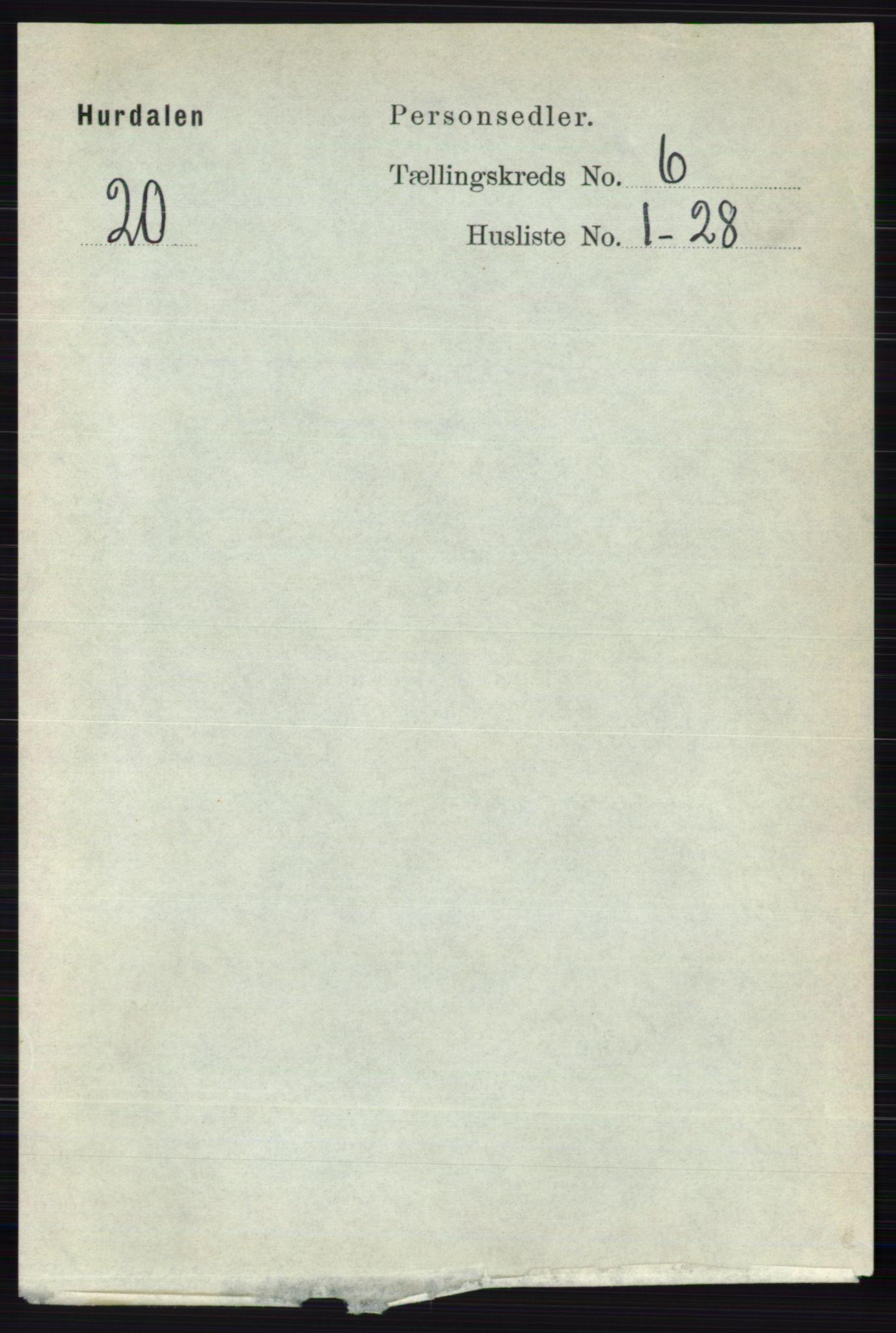 RA, Folketelling 1891 for 0239 Hurdal herred, 1891, s. 2189