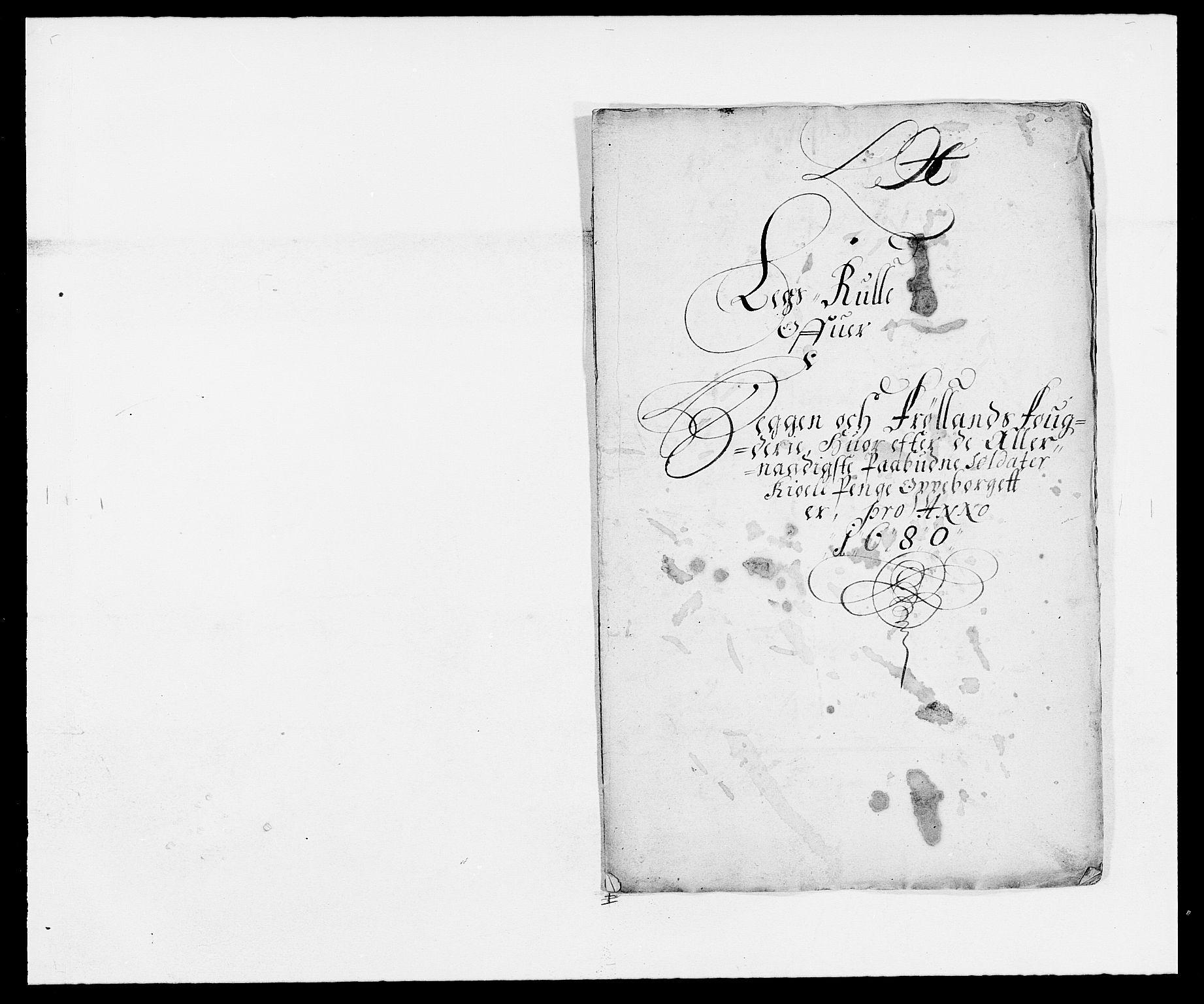 RA, Rentekammeret inntil 1814, Reviderte regnskaper, Fogderegnskap, R06/L0279: Fogderegnskap Heggen og Frøland, 1678-1680, s. 503