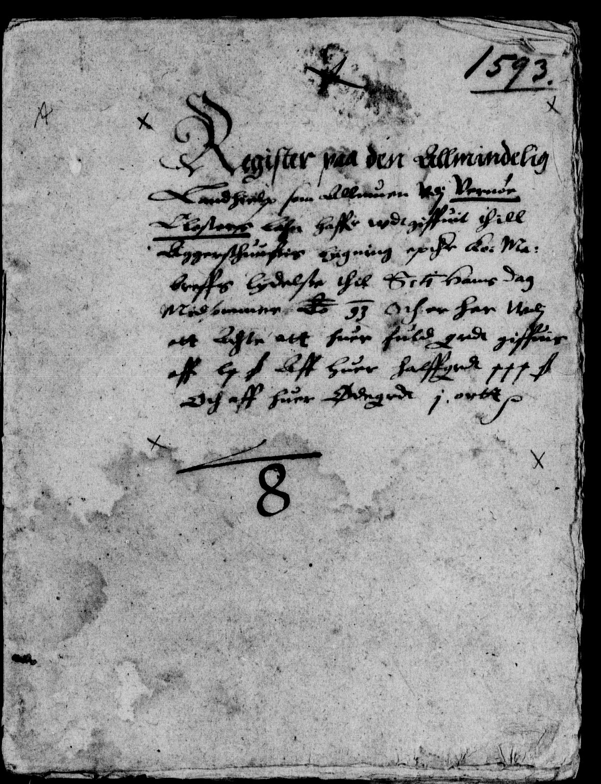 RA, Rentekammeret inntil 1814, Reviderte regnskaper, Lensregnskaper, R/Rb/Rba/L0006: Akershus len, 1593-1594