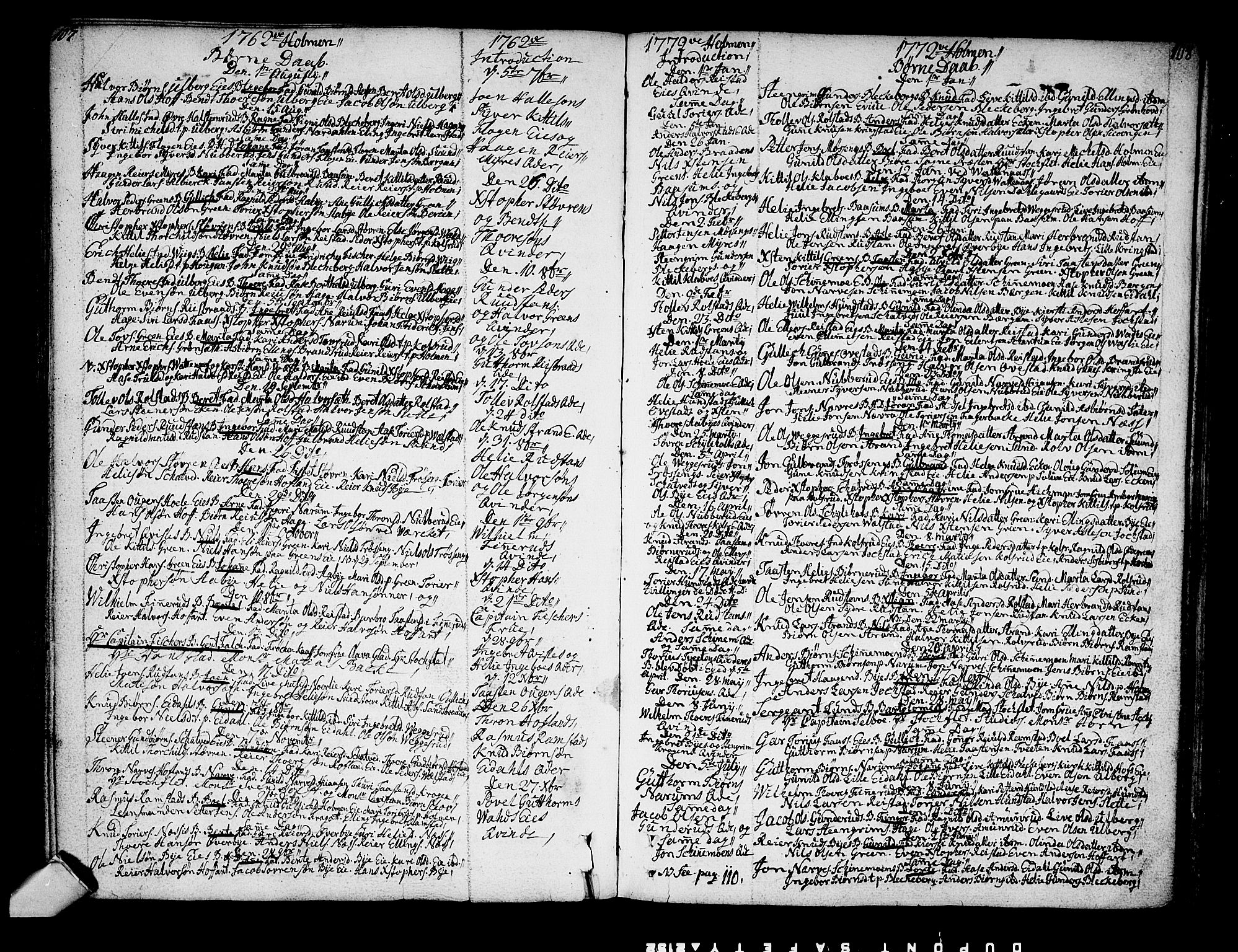 SAKO, Sigdal kirkebøker, F/Fa/L0001: Ministerialbok nr. I 1, 1722-1777, s. 107-108