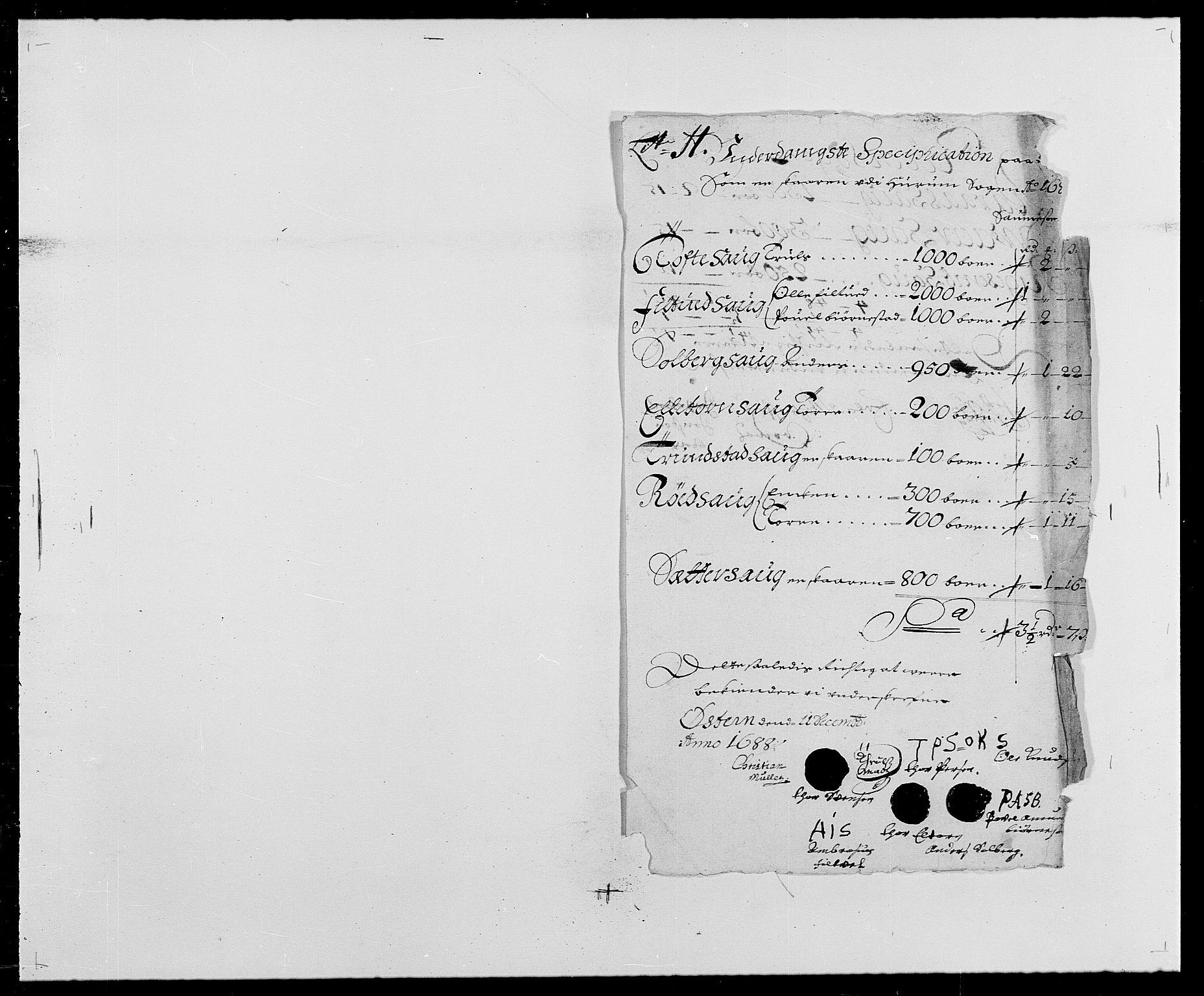 RA, Rentekammeret inntil 1814, Reviderte regnskaper, Fogderegnskap, R29/L1693: Fogderegnskap Hurum og Røyken, 1688-1693, s. 83