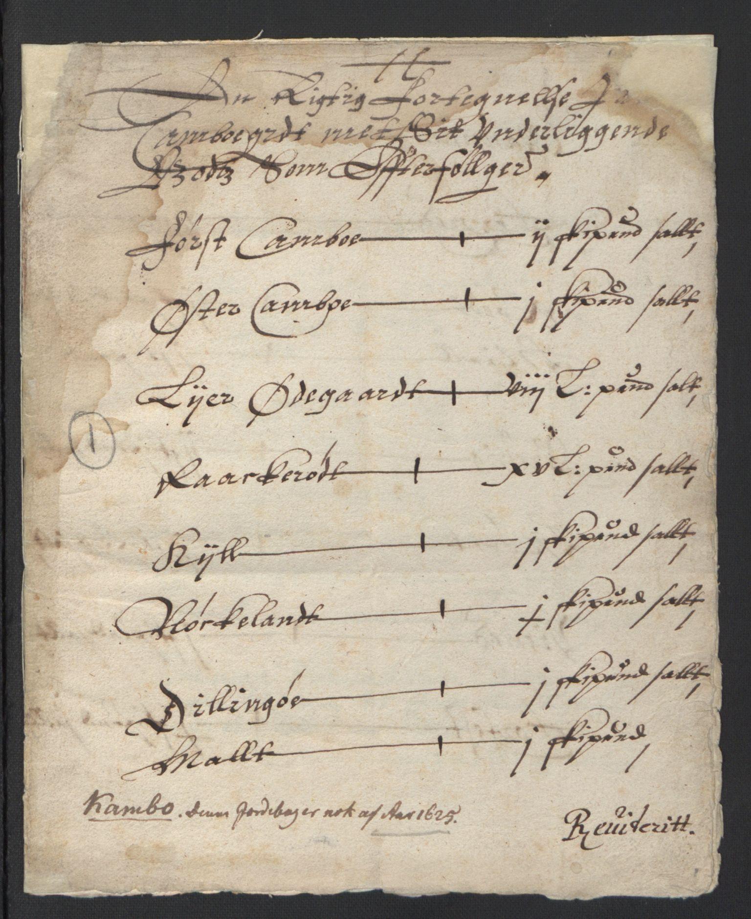 RA, Stattholderembetet 1572-1771, Ek/L0007: Jordebøker til utlikning av rosstjeneste 1624-1626:, 1624-1625, s. 161
