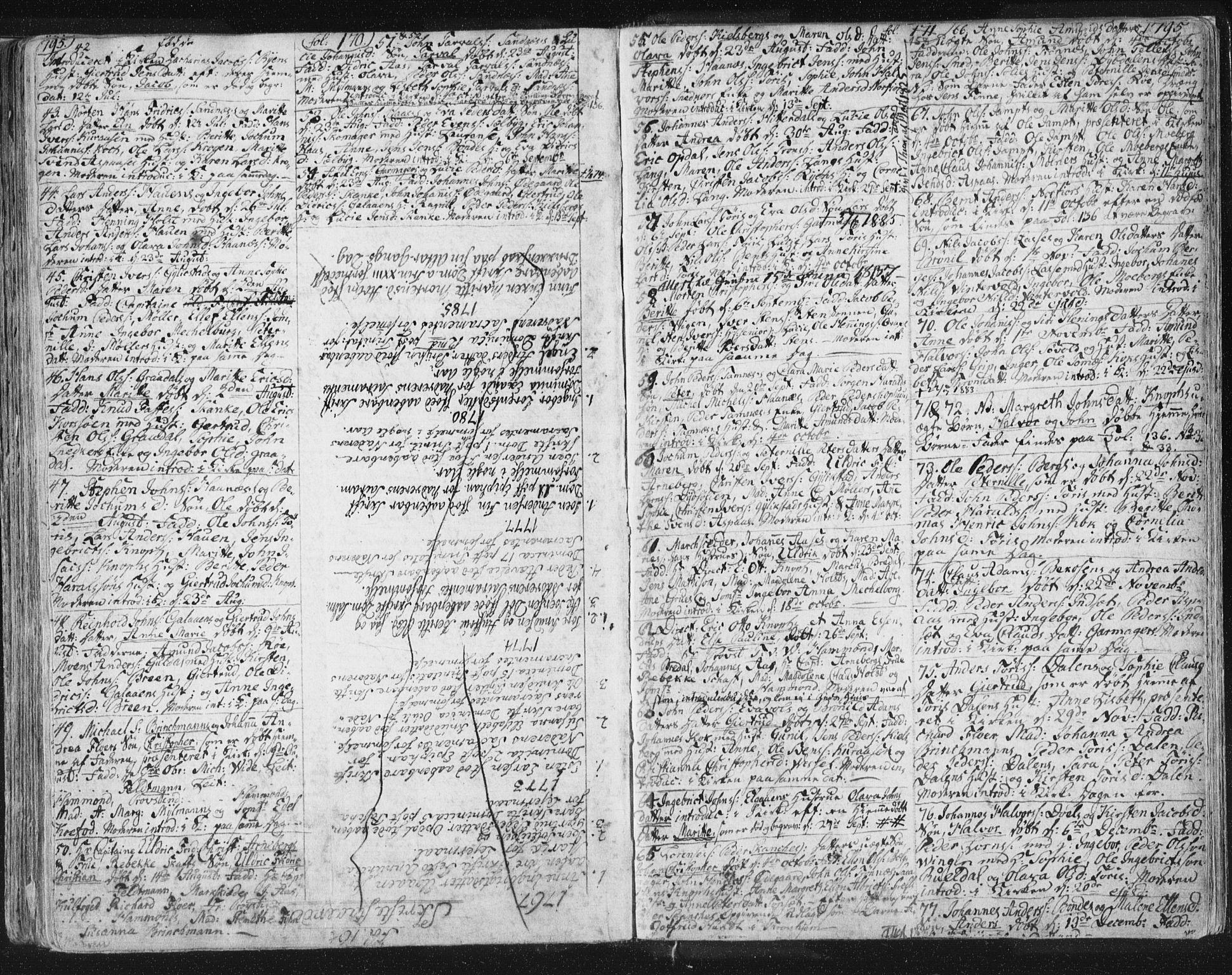 SAT, Ministerialprotokoller, klokkerbøker og fødselsregistre - Sør-Trøndelag, 681/L0926: Ministerialbok nr. 681A04, 1767-1797, s. 158