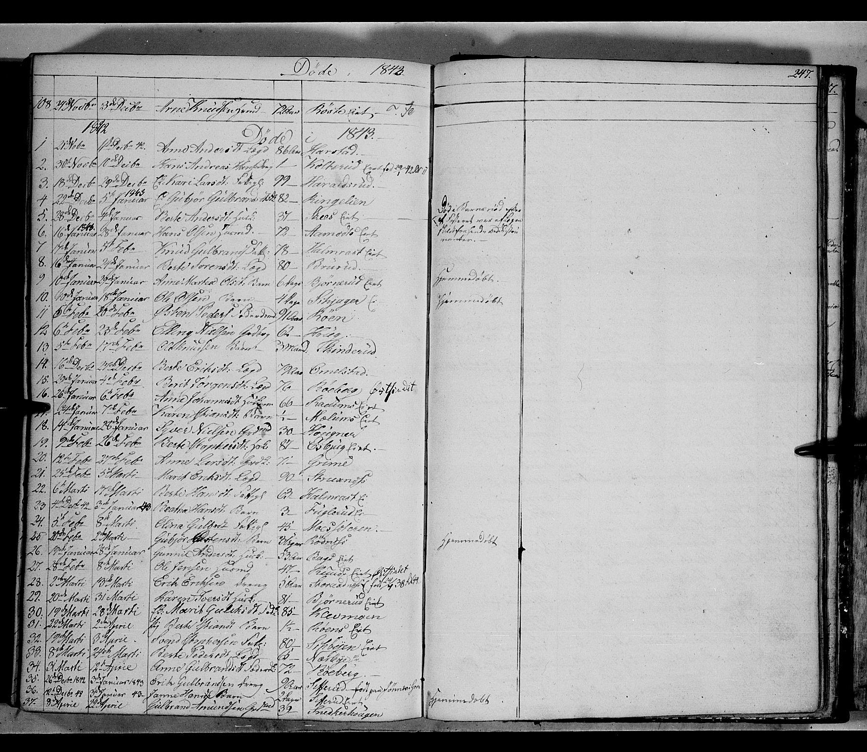 SAH, Land prestekontor, Klokkerbok nr. 2, 1833-1849, s. 247