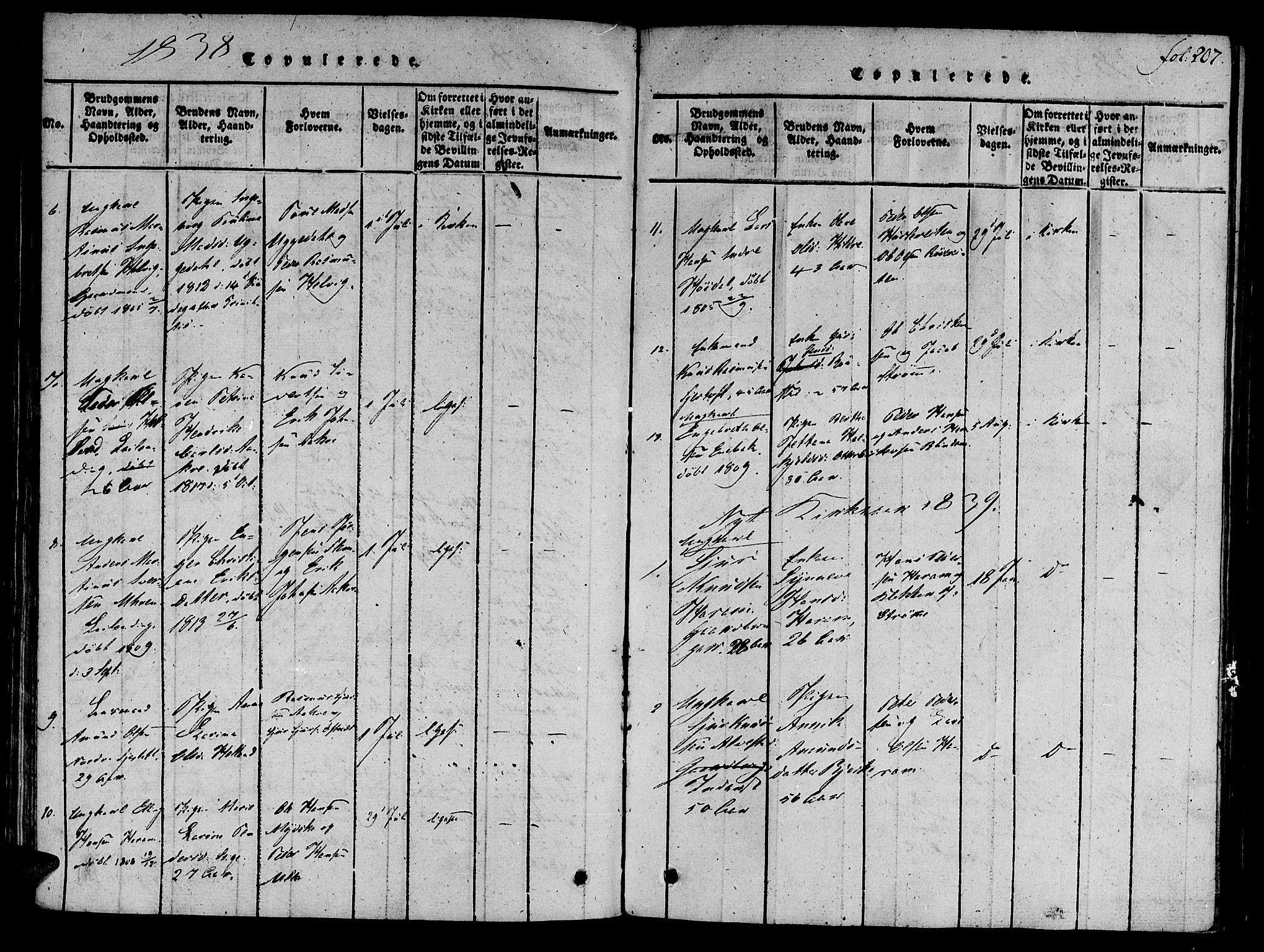 SAT, Ministerialprotokoller, klokkerbøker og fødselsregistre - Møre og Romsdal, 536/L0495: Ministerialbok nr. 536A04, 1818-1847, s. 207