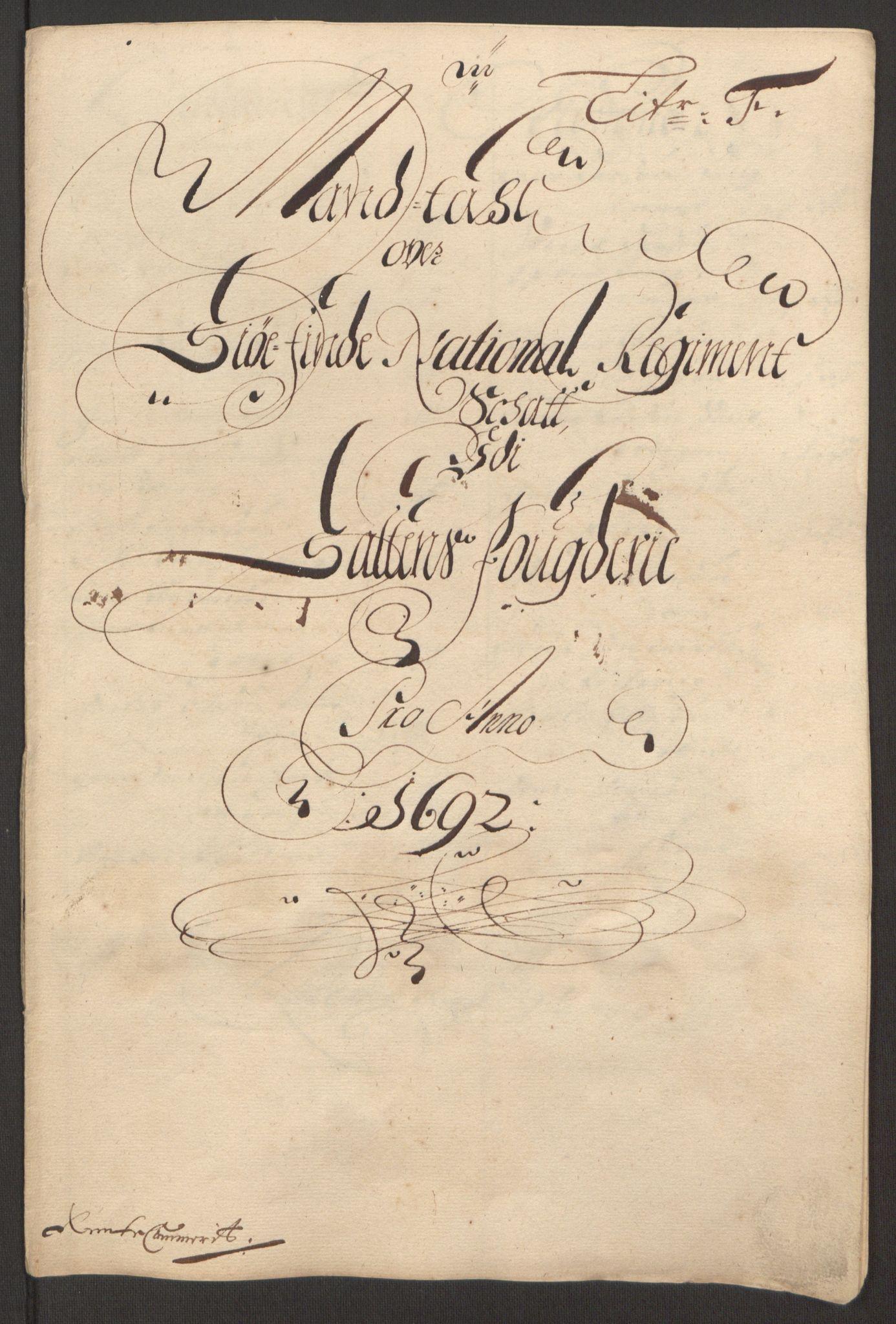 RA, Rentekammeret inntil 1814, Reviderte regnskaper, Fogderegnskap, R66/L4577: Fogderegnskap Salten, 1691-1693, s. 184