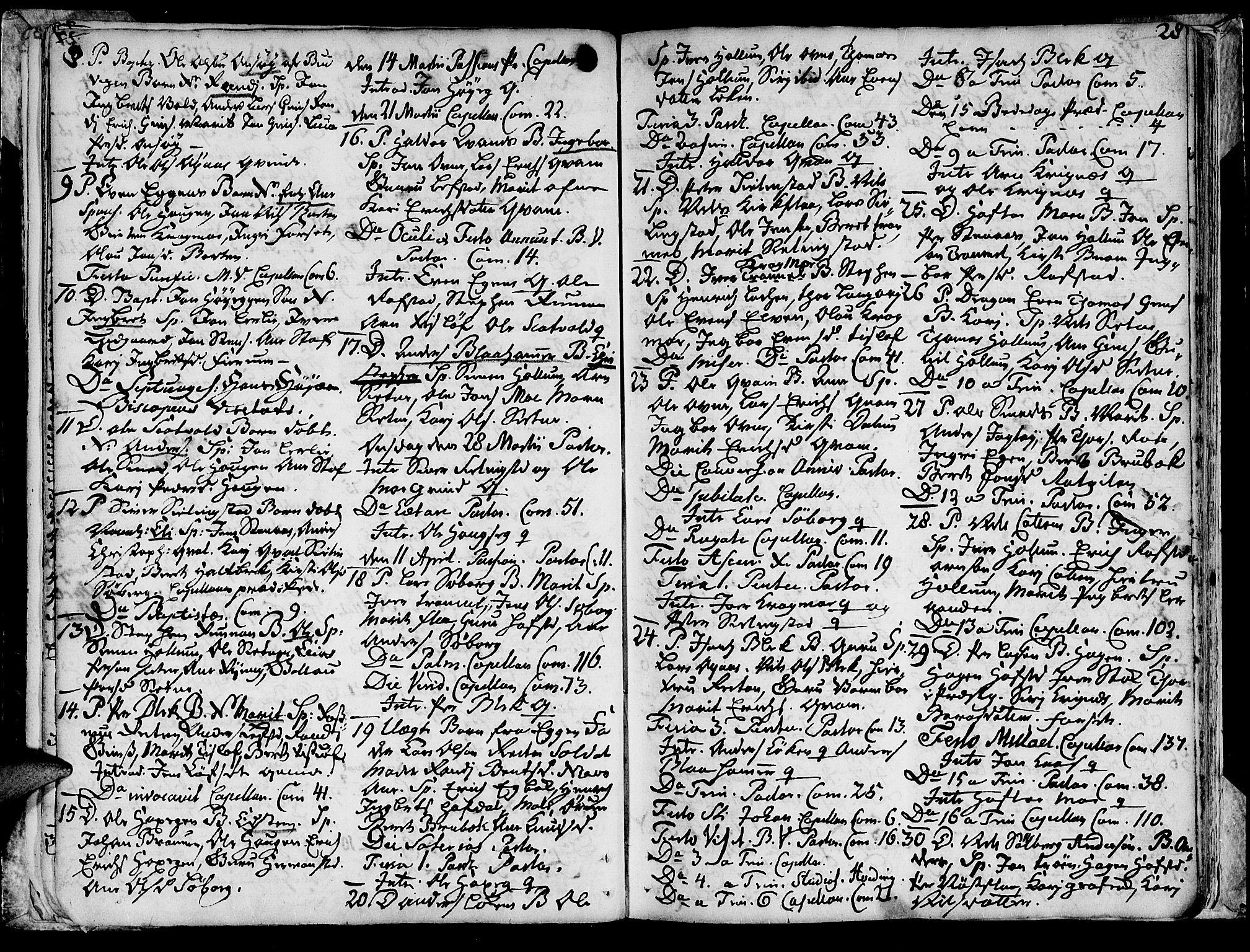 SAT, Ministerialprotokoller, klokkerbøker og fødselsregistre - Sør-Trøndelag, 691/L1057: Ministerialbok nr. 691A01 /1, 1740-1767, s. 28