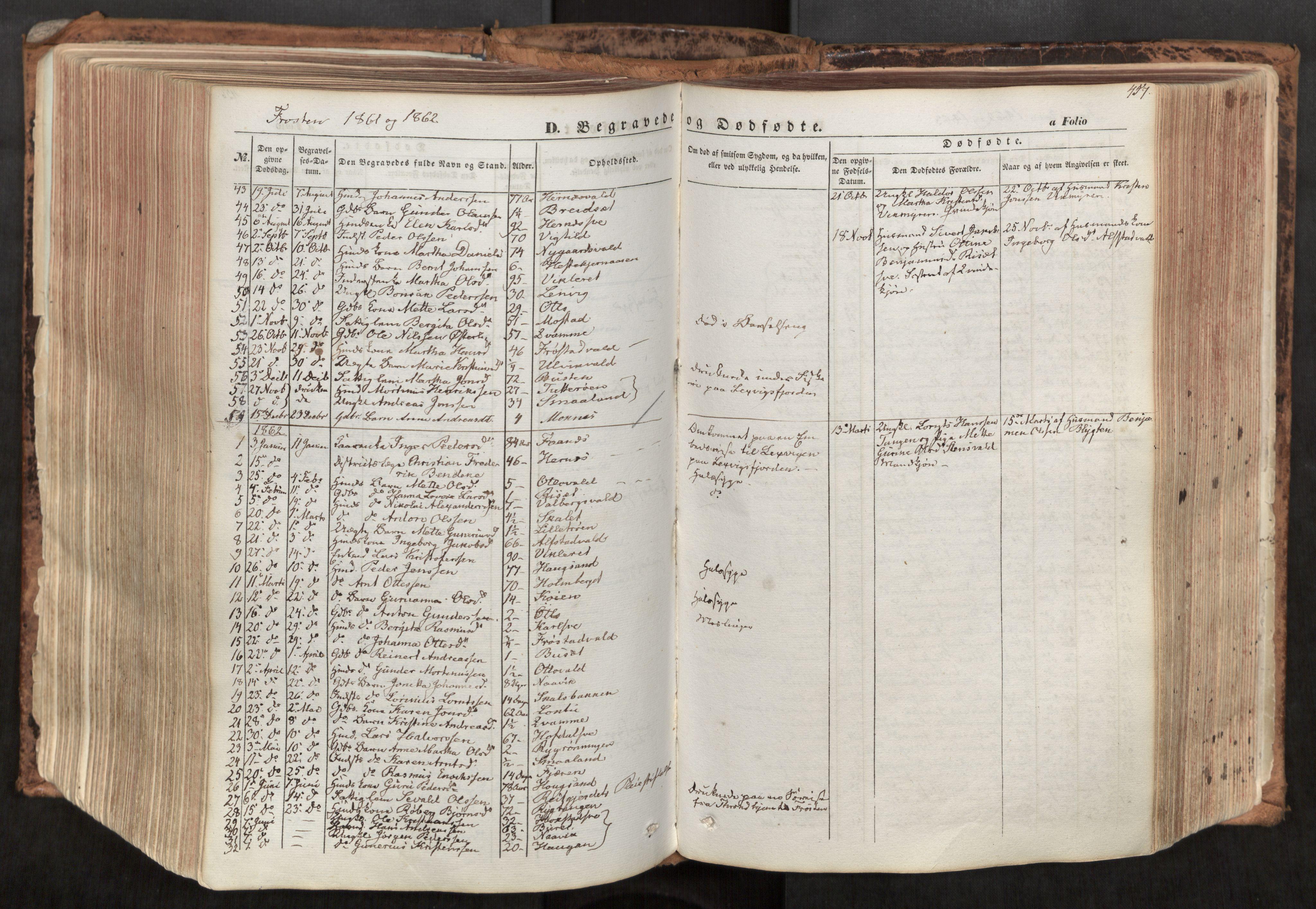 SAT, Ministerialprotokoller, klokkerbøker og fødselsregistre - Nord-Trøndelag, 713/L0116: Ministerialbok nr. 713A07, 1850-1877, s. 457