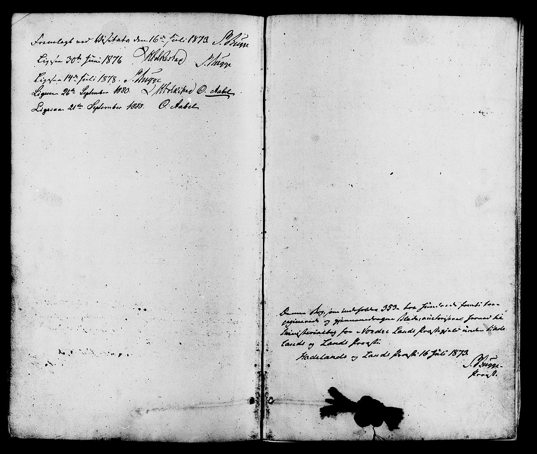 SAH, Nordre Land prestekontor, Ministerialbok nr. 2, 1872-1881