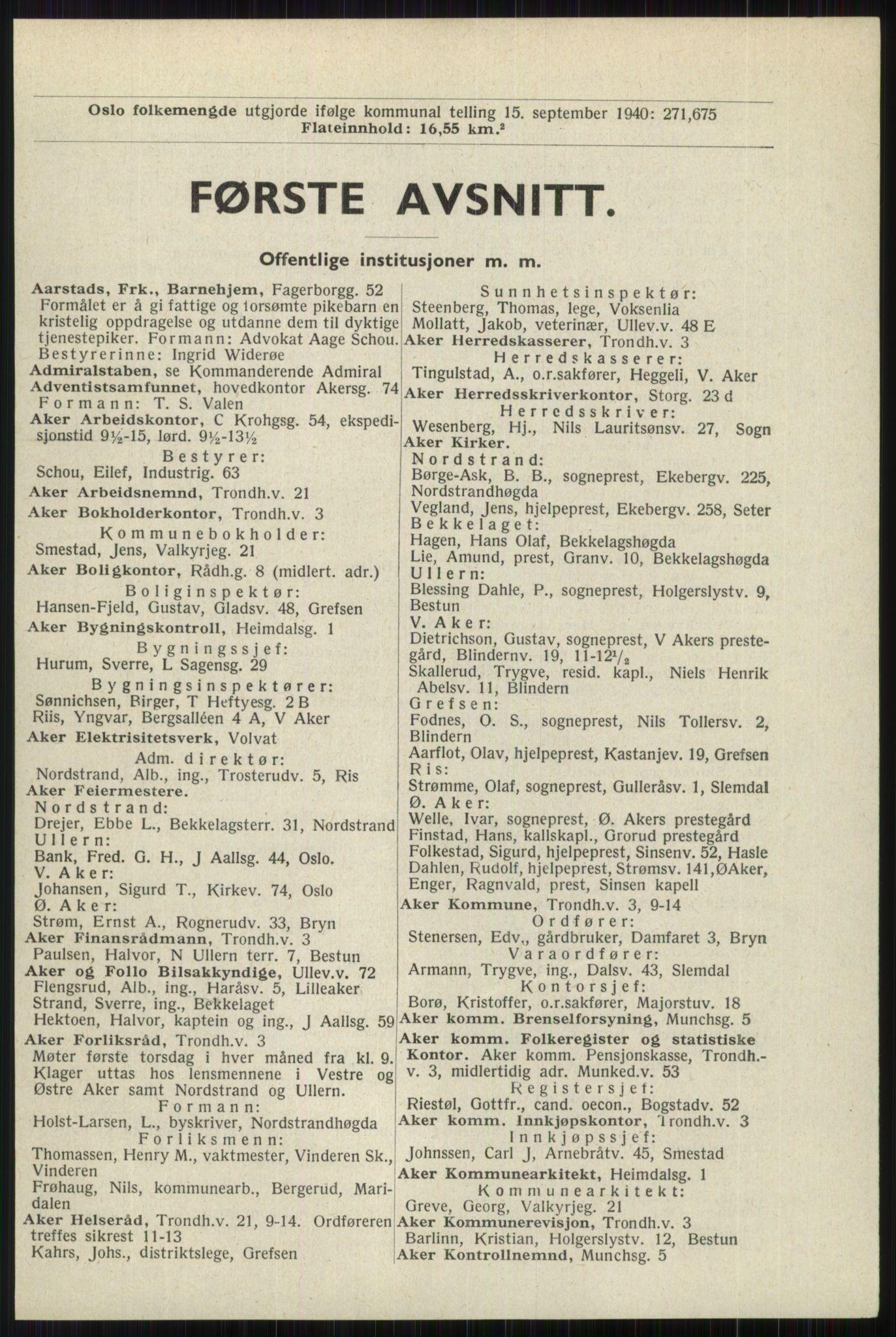 RA, Oslo adressebok (publikasjon)*, 1941, s. 1
