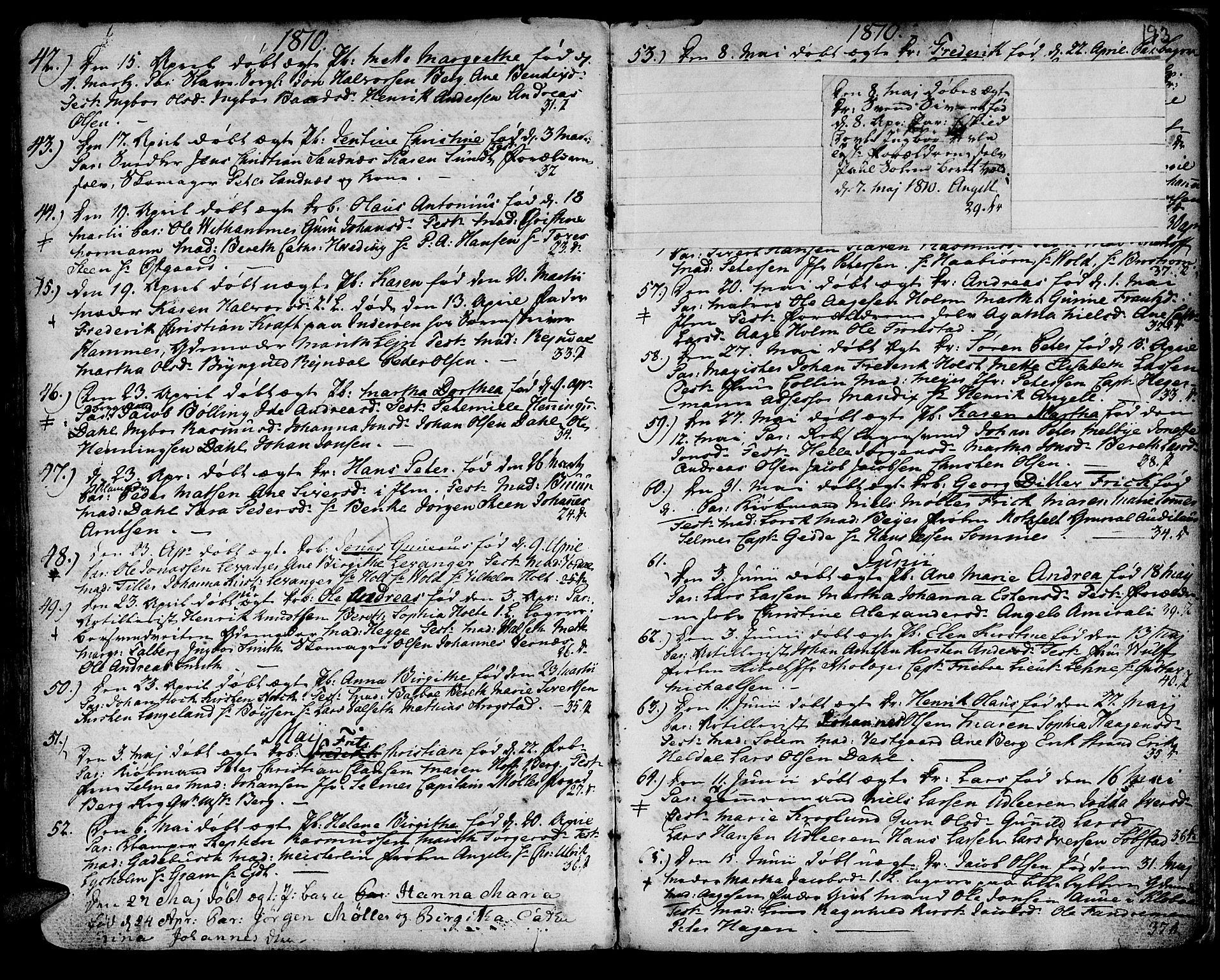 SAT, Ministerialprotokoller, klokkerbøker og fødselsregistre - Sør-Trøndelag, 601/L0039: Ministerialbok nr. 601A07, 1770-1819, s. 193