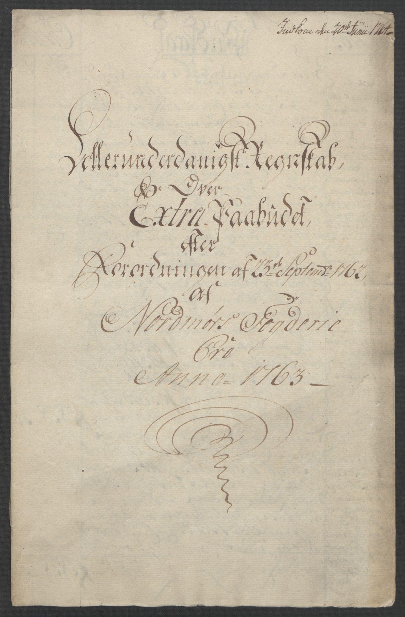 RA, Rentekammeret inntil 1814, Reviderte regnskaper, Fogderegnskap, R56/L3841: Ekstraskatten Nordmøre, 1762-1763, s. 196