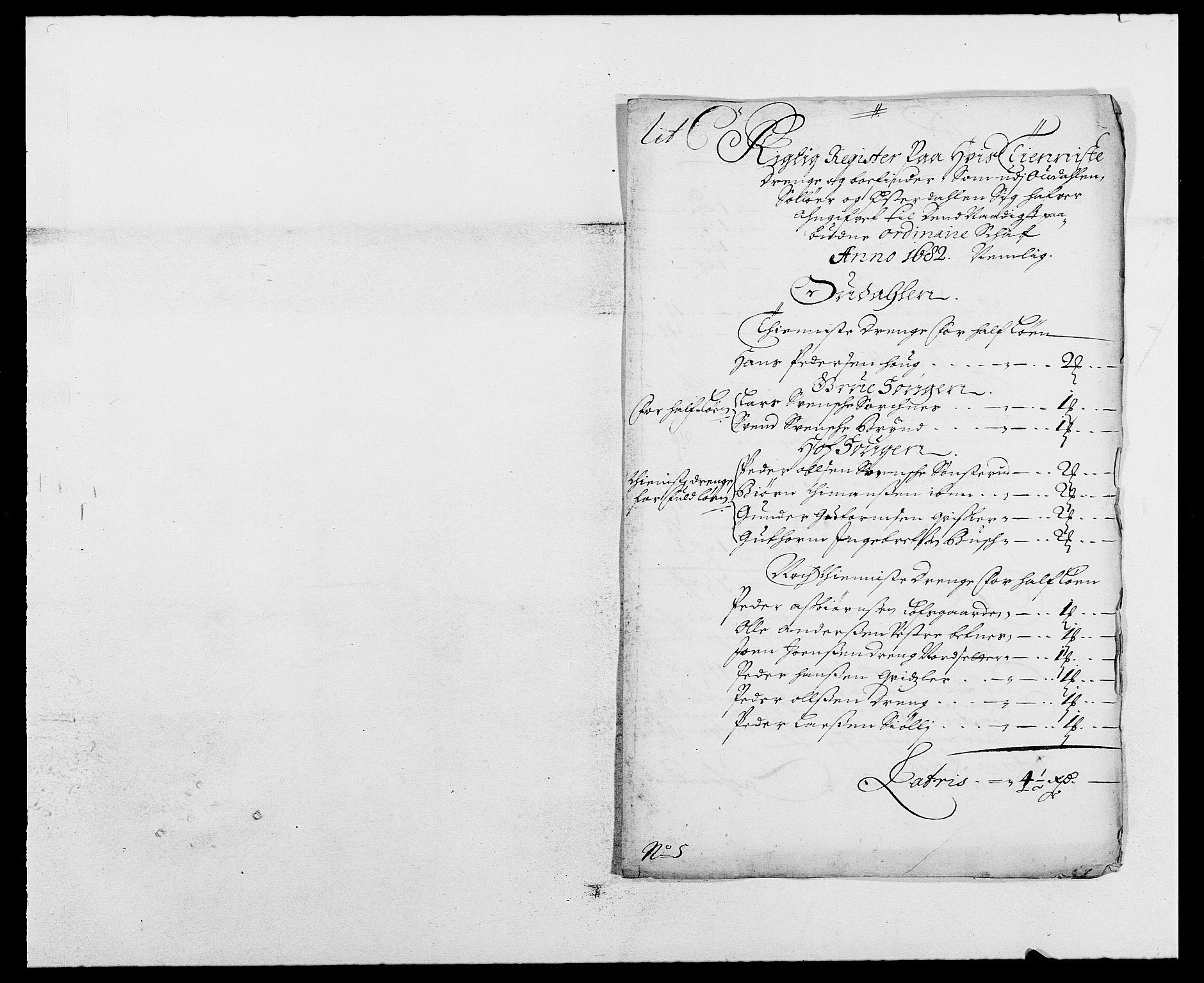 RA, Rentekammeret inntil 1814, Reviderte regnskaper, Fogderegnskap, R13/L0819: Fogderegnskap Solør, Odal og Østerdal, 1682, s. 188