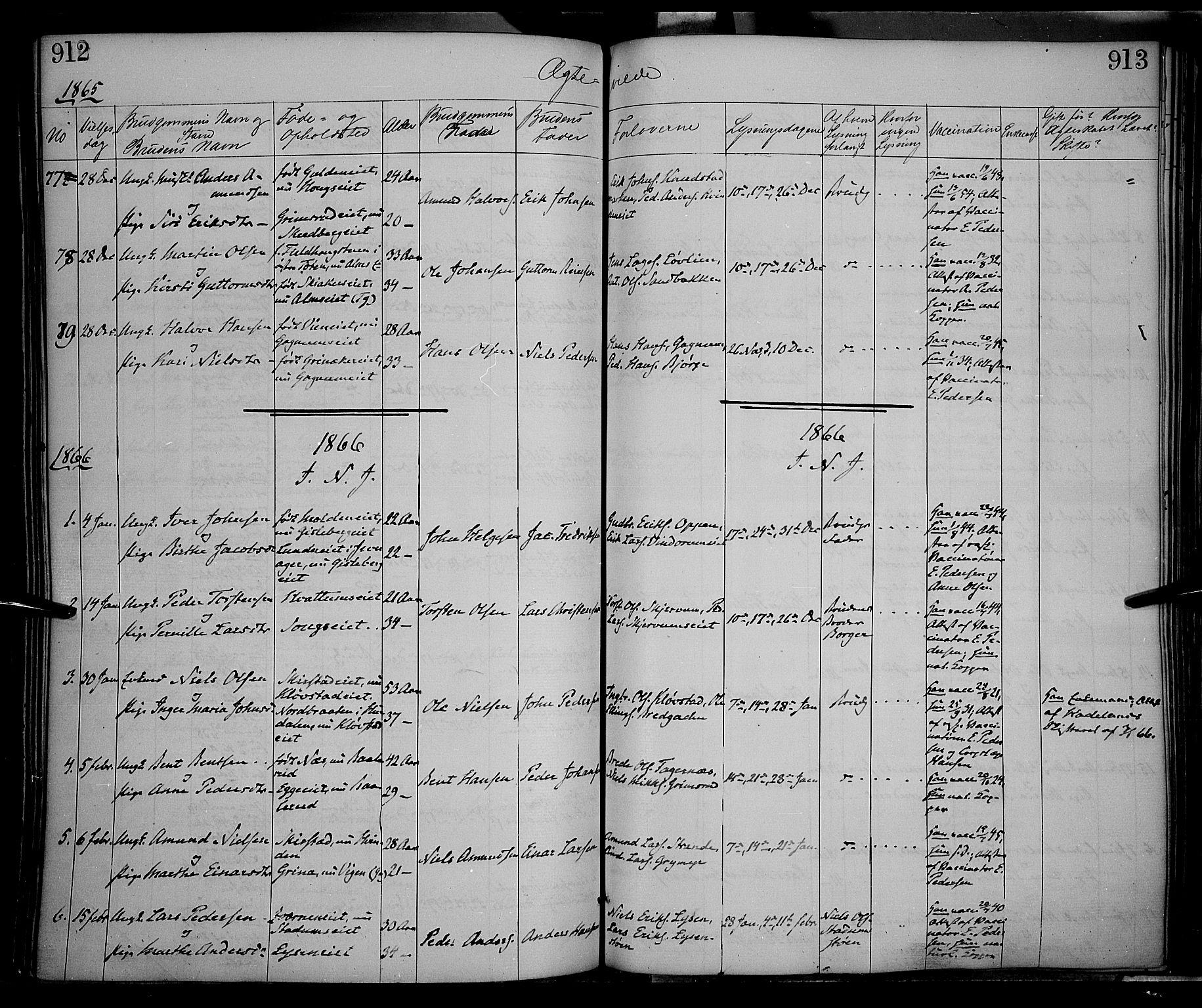 SAH, Gran prestekontor, Ministerialbok nr. 12, 1856-1874, s. 912-913