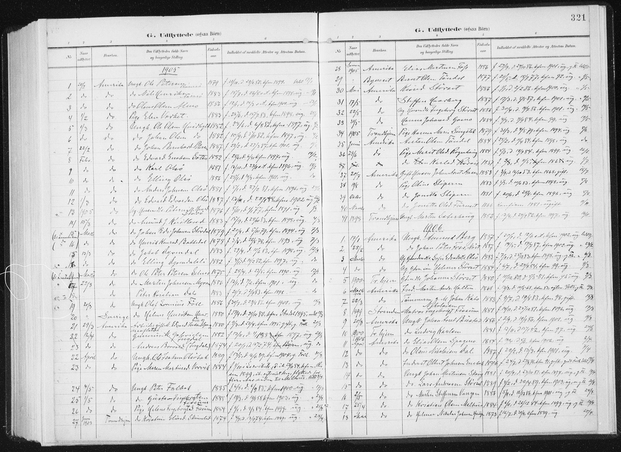 SAT, Ministerialprotokoller, klokkerbøker og fødselsregistre - Sør-Trøndelag, 647/L0635: Ministerialbok nr. 647A02, 1896-1911, s. 321