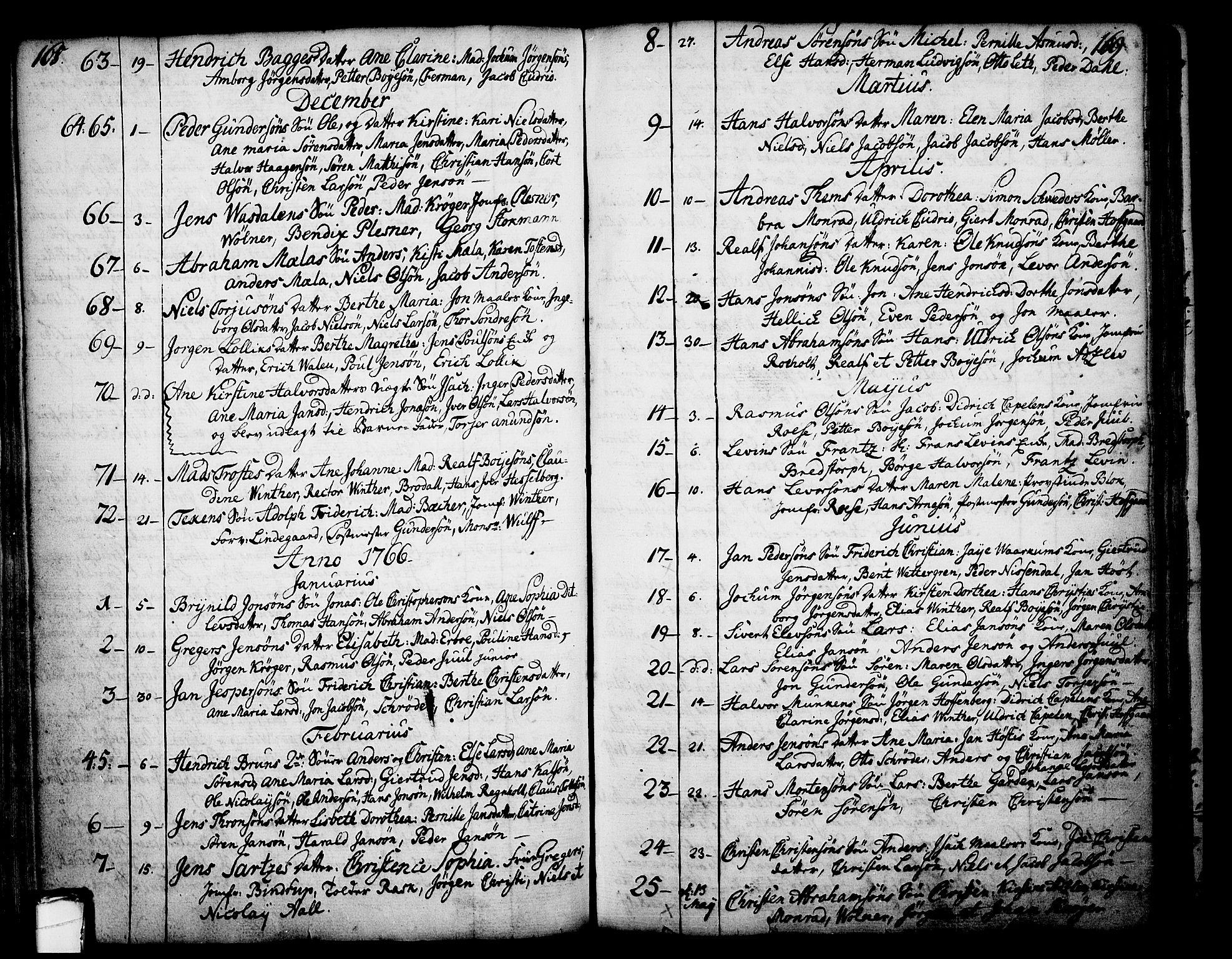 SAKO, Skien kirkebøker, F/Fa/L0003: Ministerialbok nr. 3, 1755-1791, s. 168-169