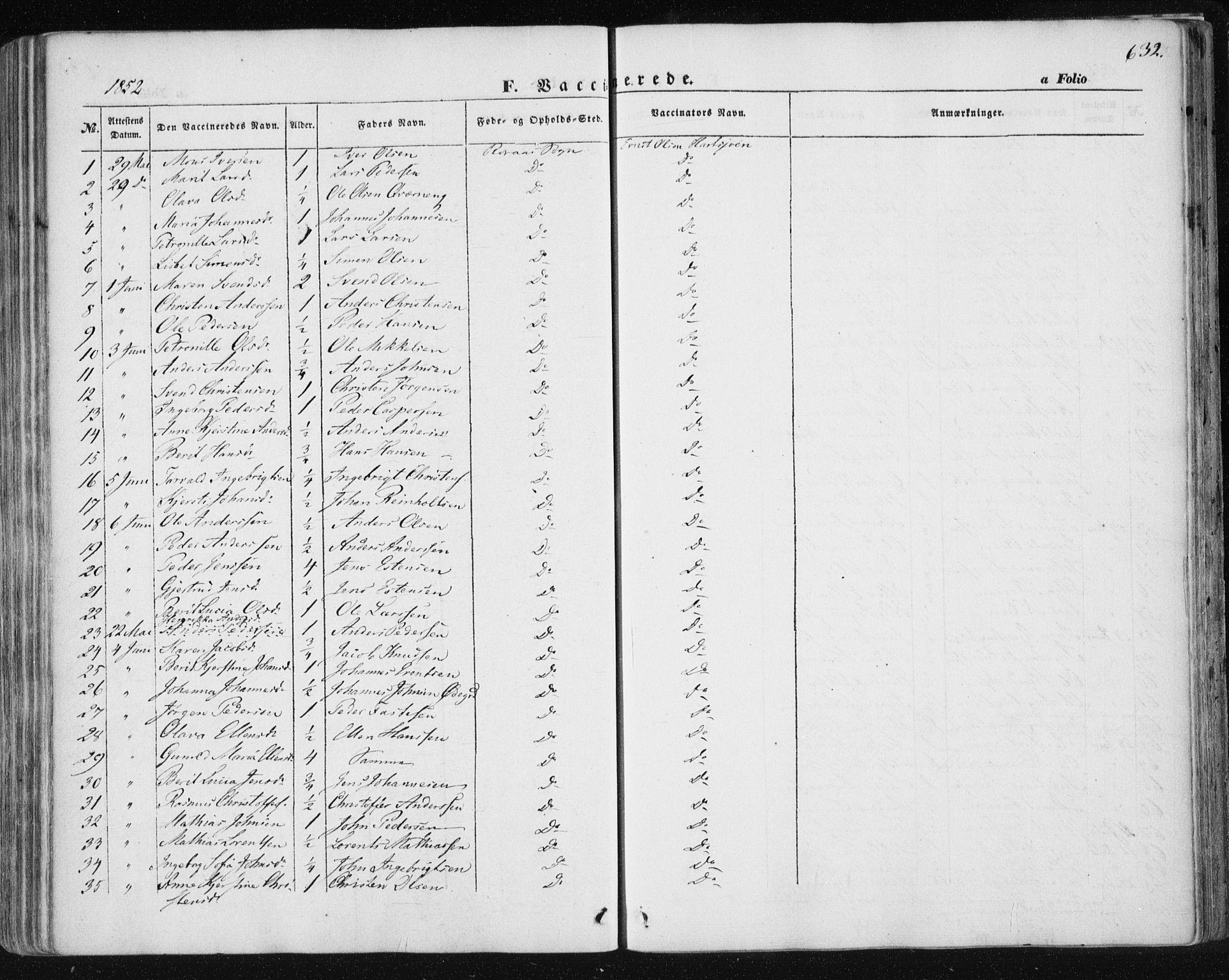 SAT, Ministerialprotokoller, klokkerbøker og fødselsregistre - Sør-Trøndelag, 681/L0931: Ministerialbok nr. 681A09, 1845-1859, s. 632