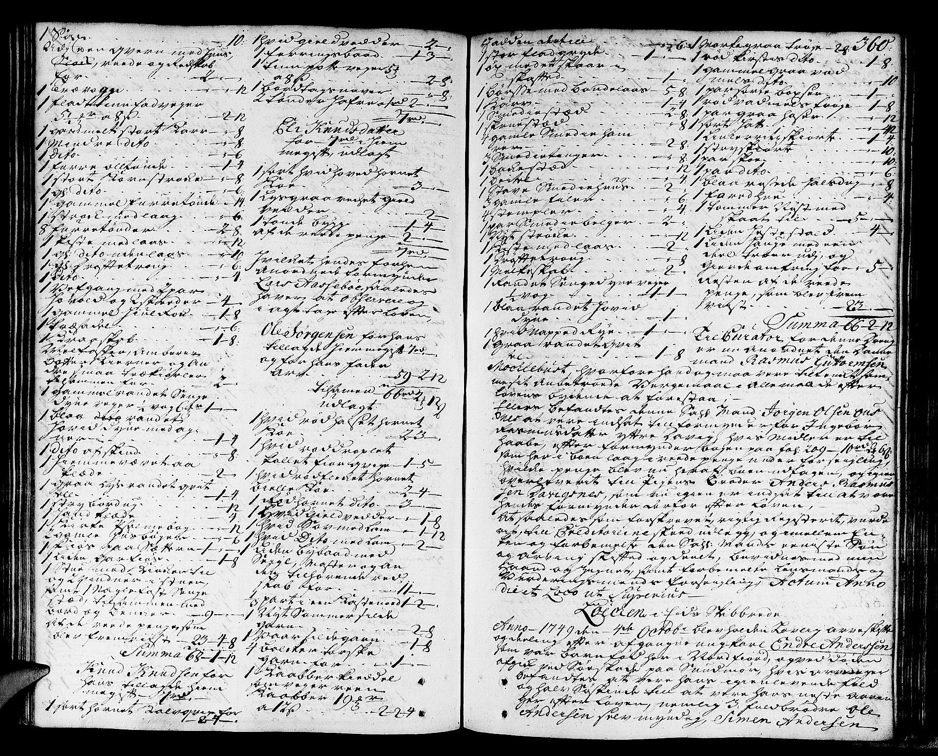 SAB, Nordfjord Sorenskriveri, 04/04a/L0010: Skifteprotokollar, 1747-1750, s. 359b-360a