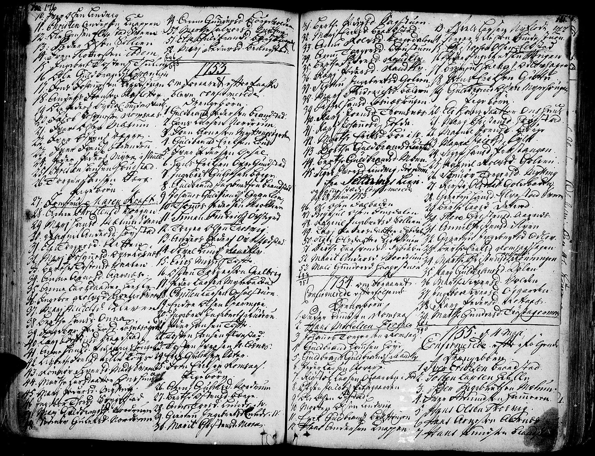 SAH, Ringebu prestekontor, Ministerialbok nr. 2, 1734-1780, s. 176-177
