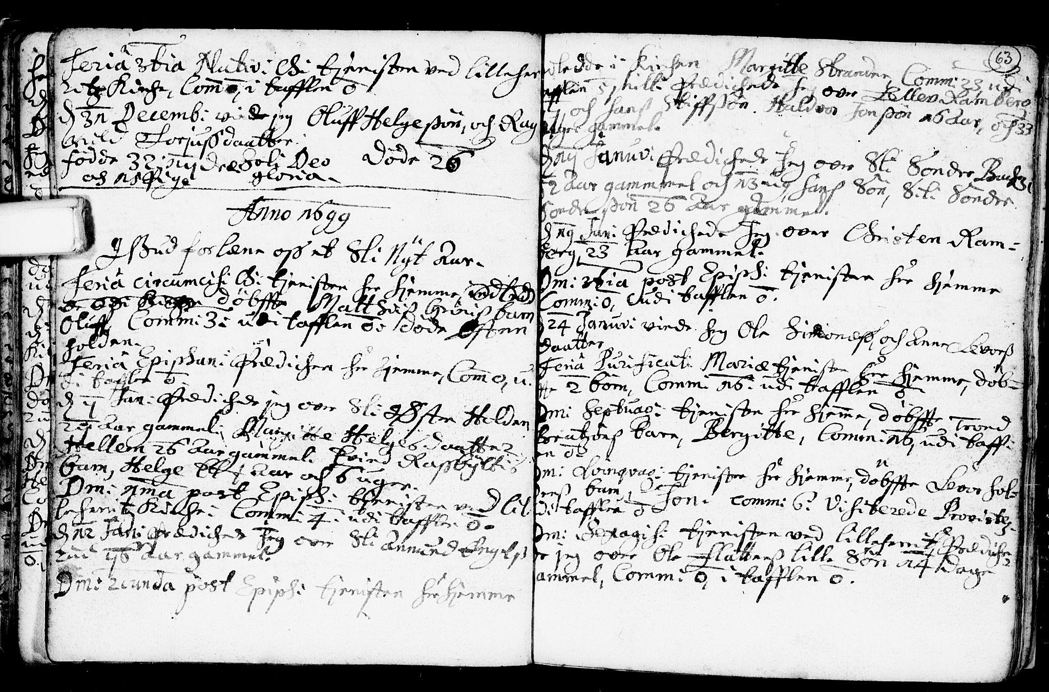 SAKO, Heddal kirkebøker, F/Fa/L0001: Ministerialbok nr. I 1, 1648-1699, s. 63